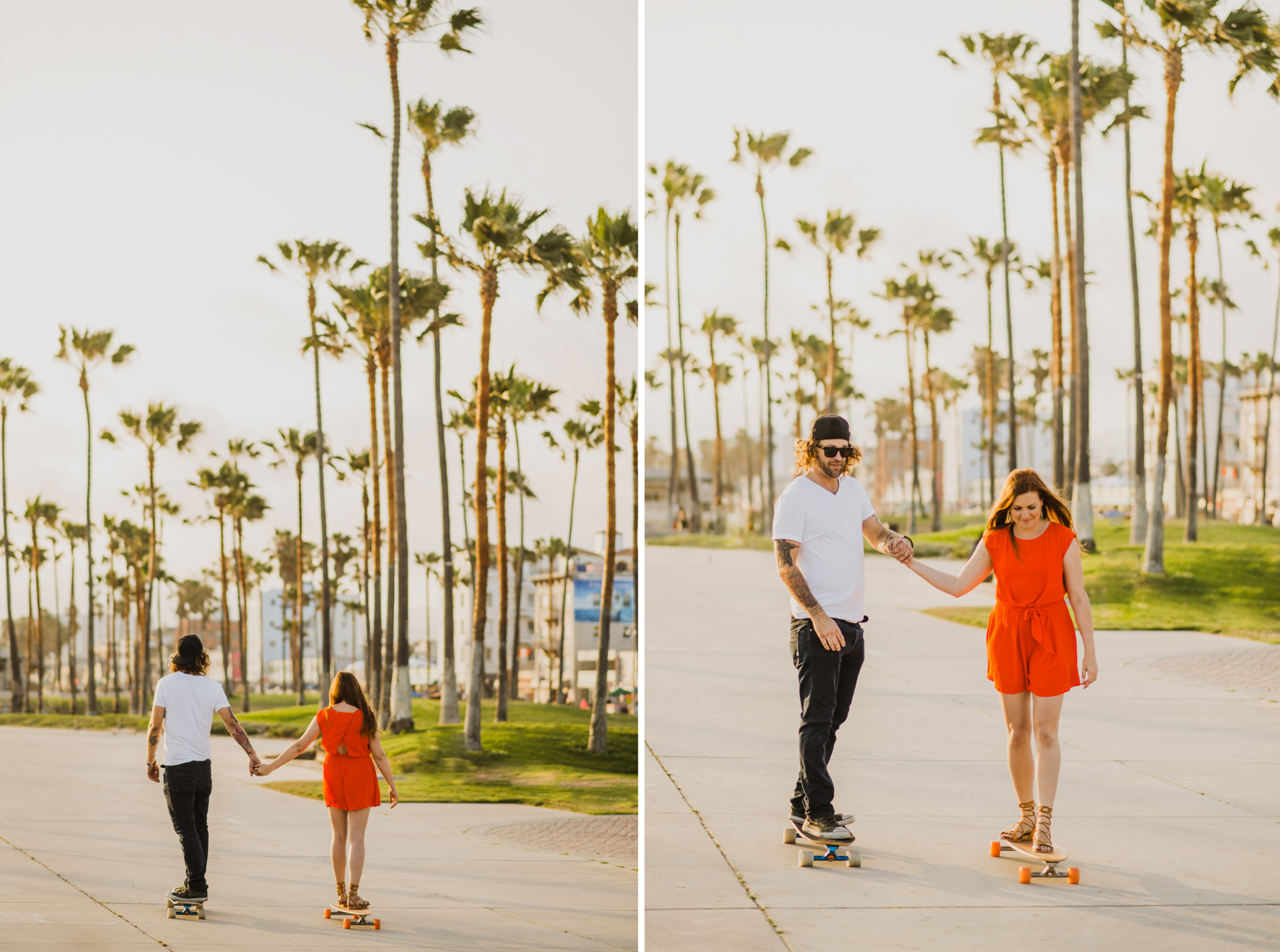 Isaiah Taylor Photography Skating Engagement Venice Beach
