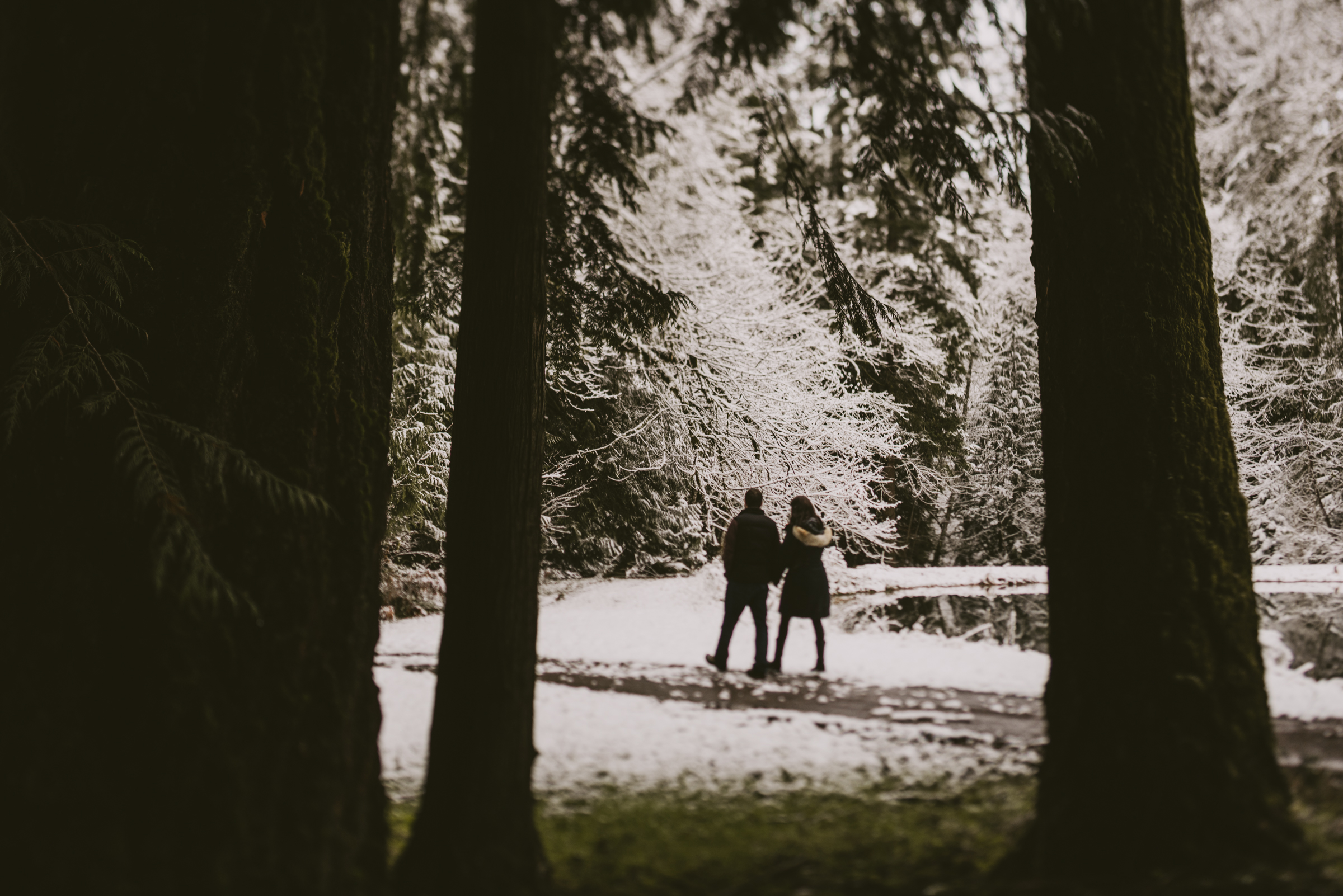 © Isaiah + Taylor Photography - Portland, Oregon Winter Forest Cabin Engagement-8.jpg