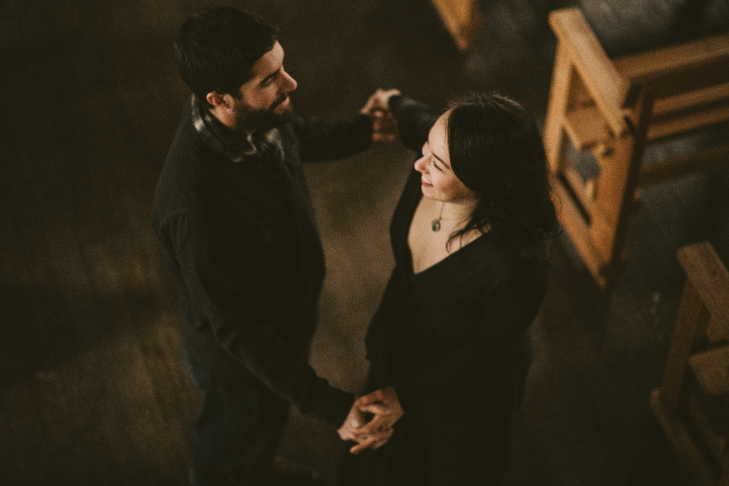 © Isaiah + Taylor Photography - Portland, Oregon Winter Forest Cabin Engagement-31.jpg