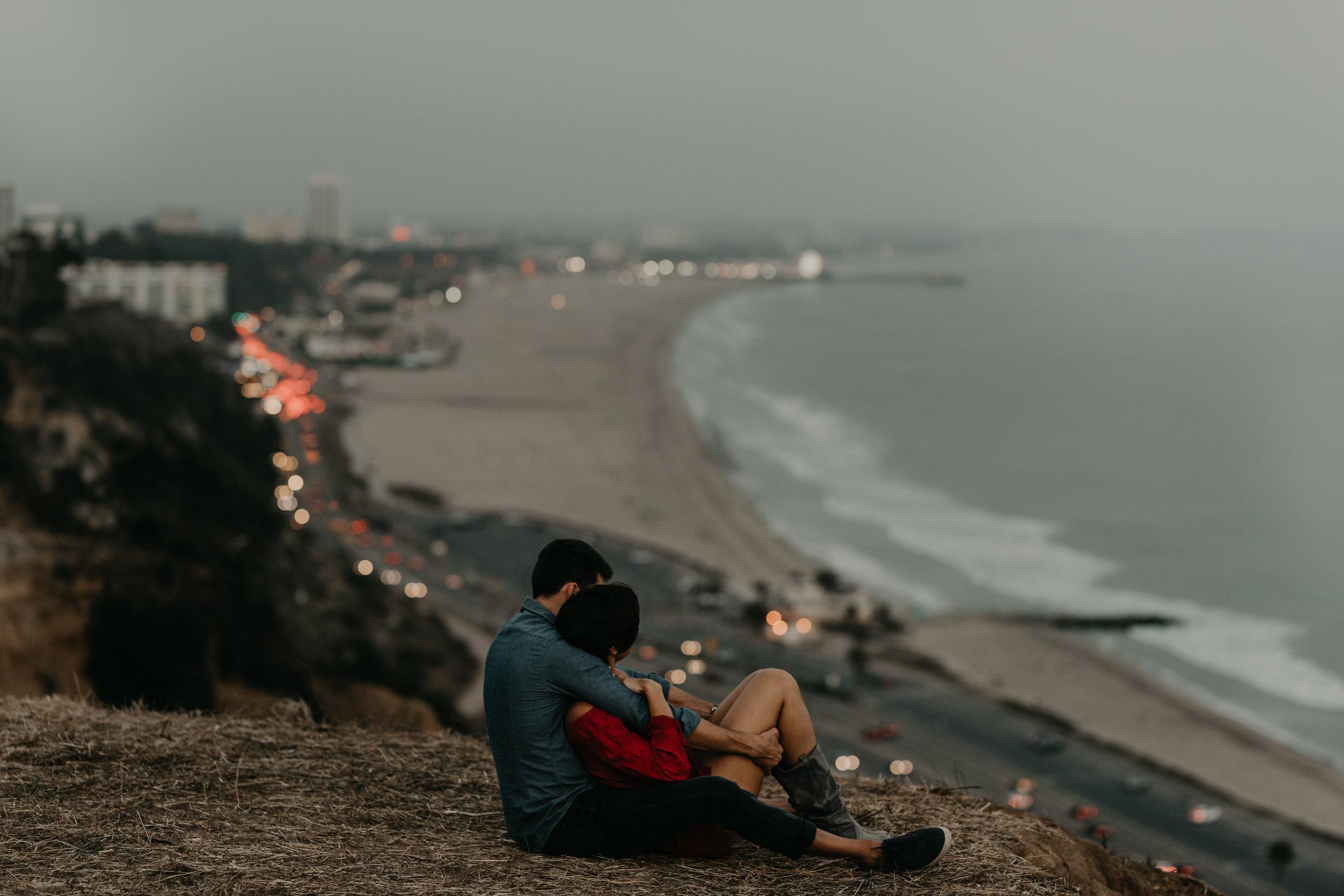 Santa Monica couple session, wedding photographer in Los Angeles