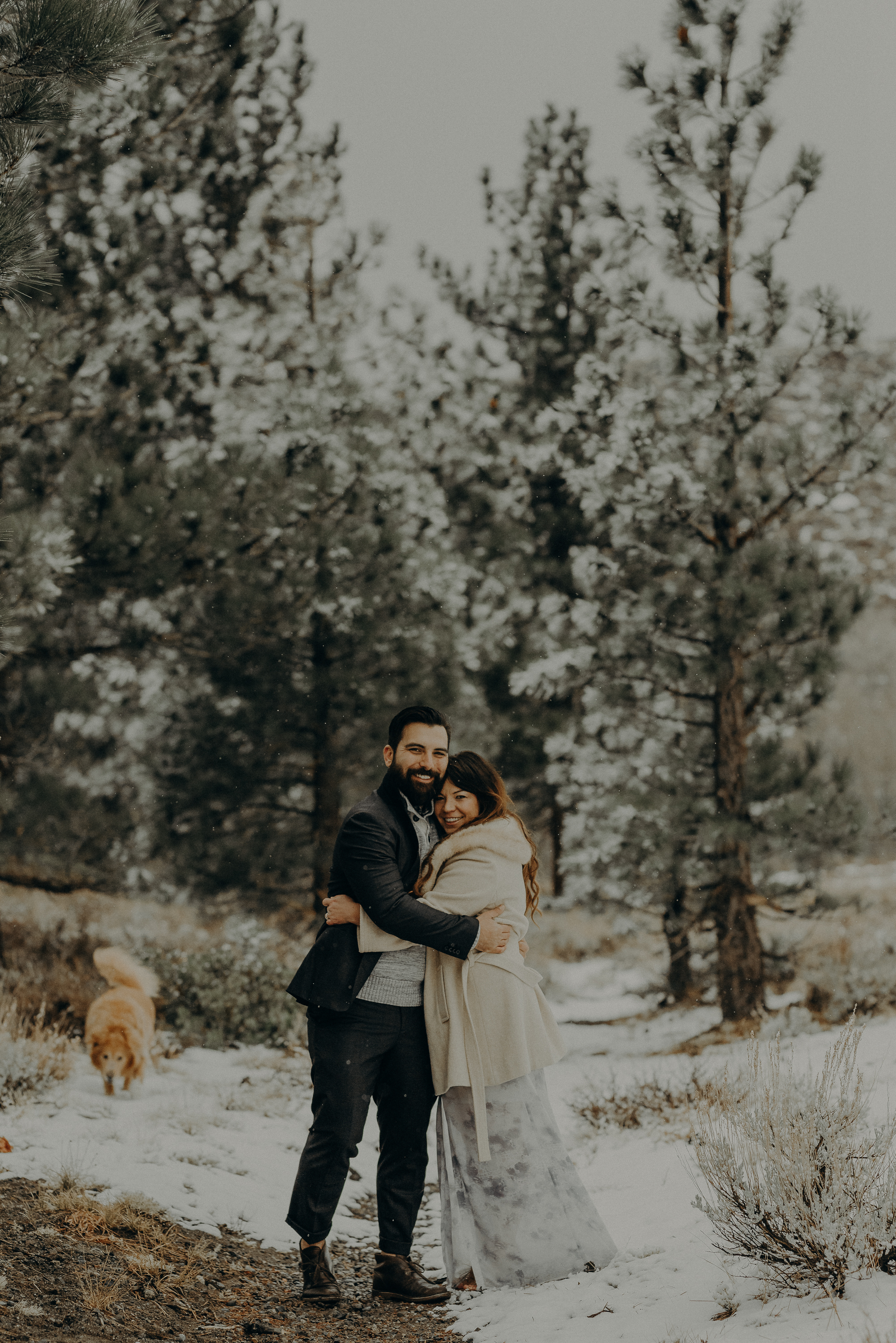 ©Isaiah + Taylor Photography - Los Angeles Wedding Photographer - Snowing engagement session-005.jpg