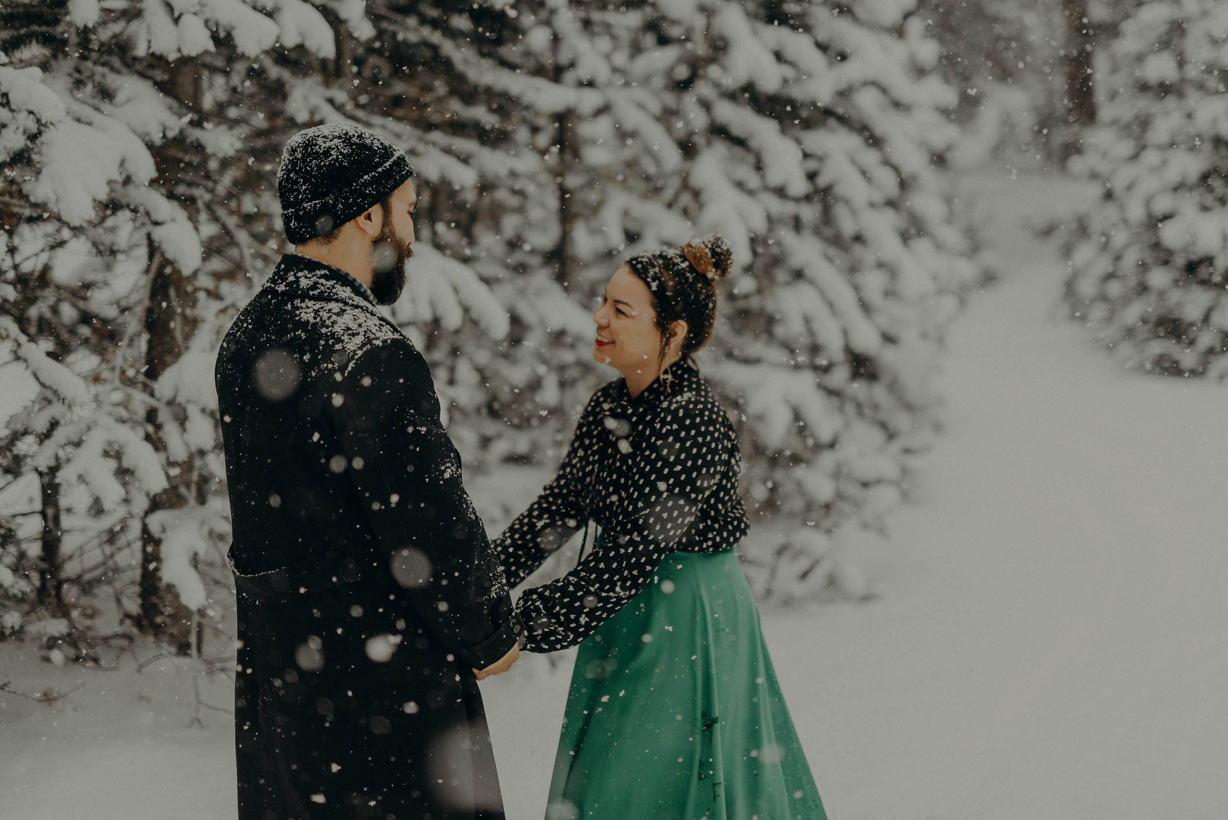 ©Isaiah + Taylor Photography - Los Angeles Wedding Photographer - Snowing engagement session-010.jpg