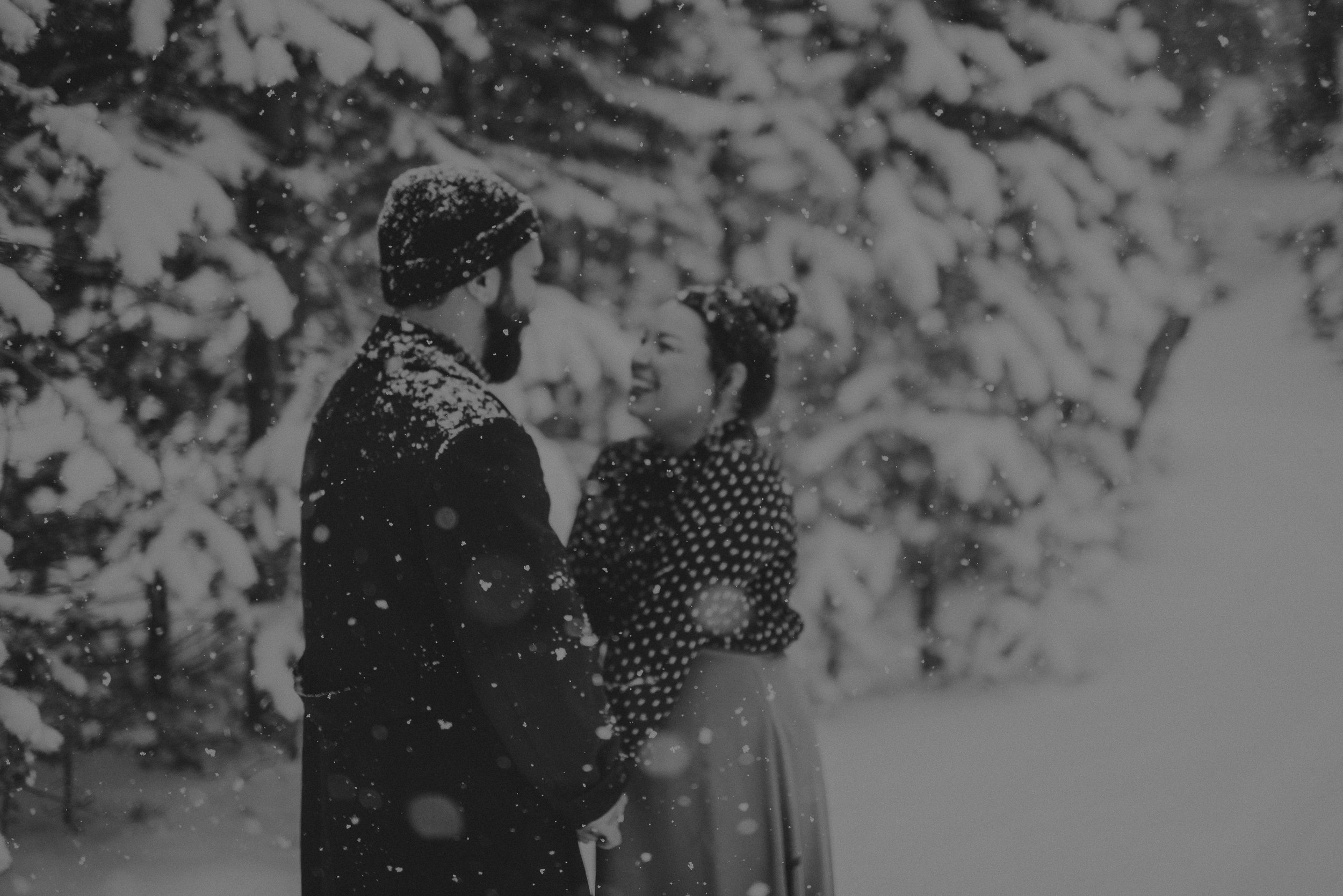 ©Isaiah + Taylor Photography - Los Angeles Wedding Photographer - Snowing engagement session-011.jpg