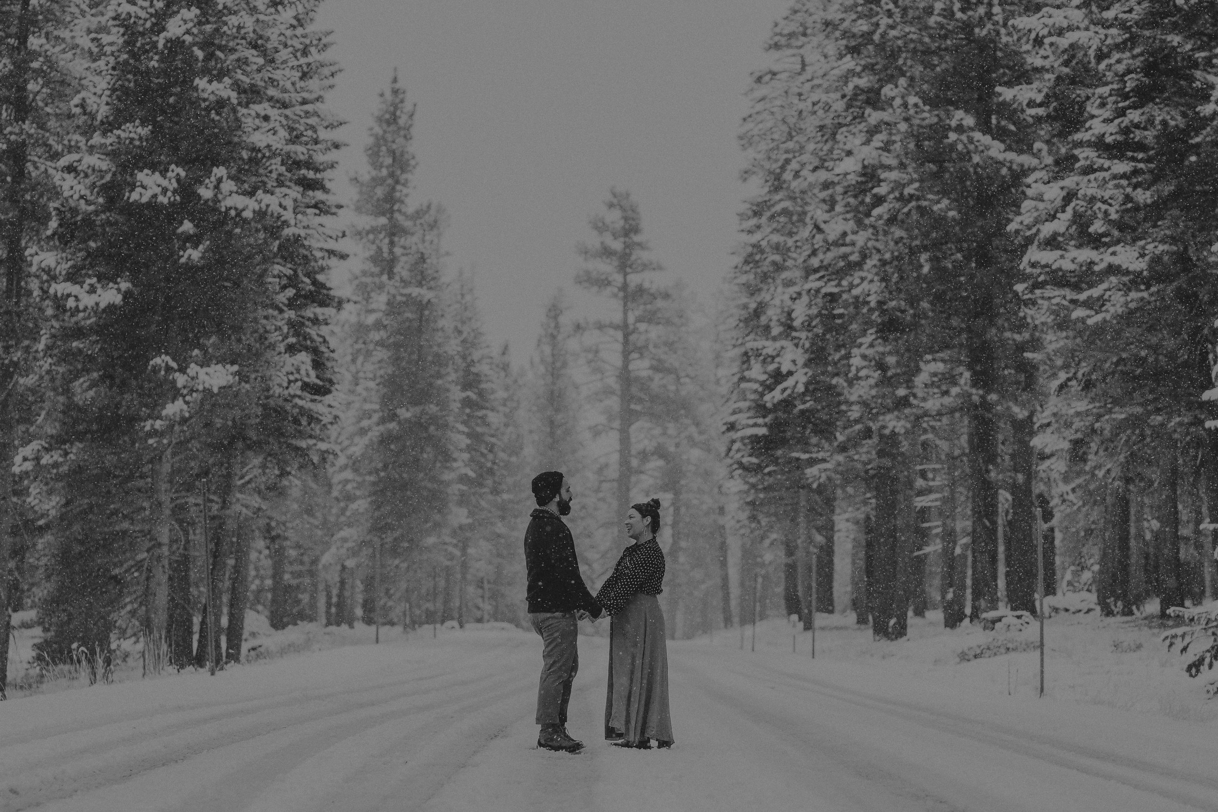 ©Isaiah + Taylor Photography - Los Angeles Wedding Photographer - Snowing engagement session-028.jpg