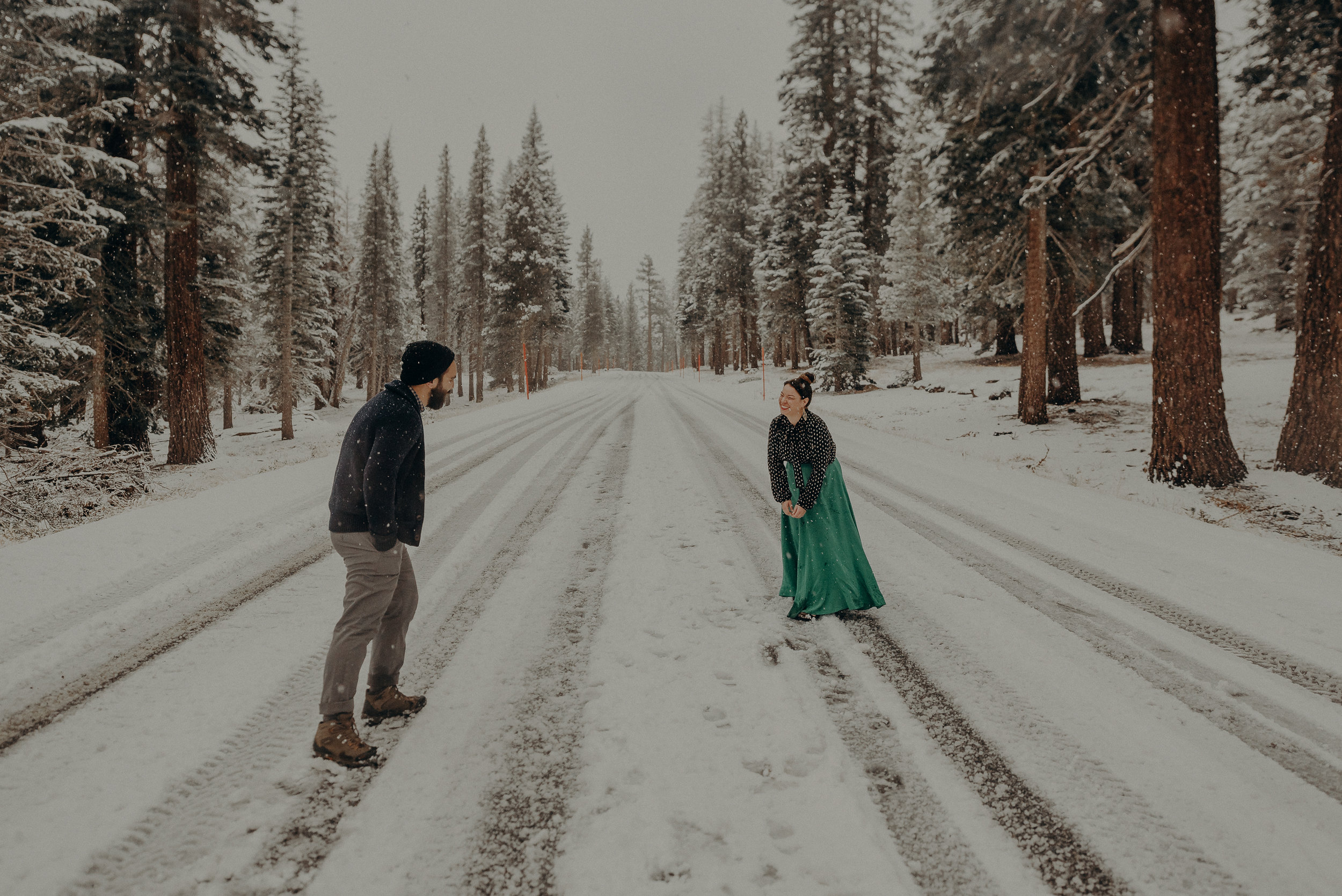 ©Isaiah + Taylor Photography - Los Angeles Wedding Photographer - Snowing engagement session-035.jpg