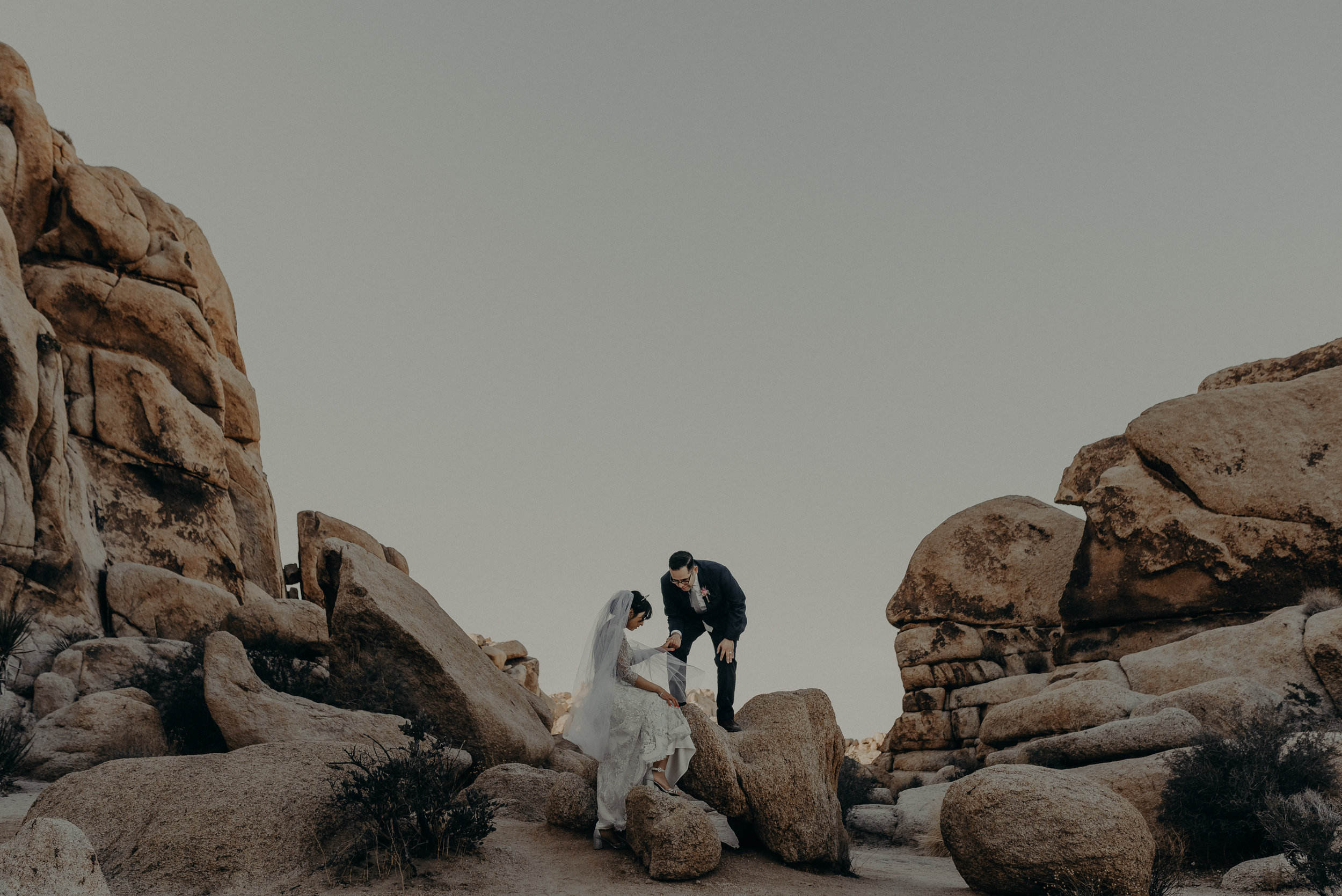 indian cove amphitheater wedding, Joshua tree elopement