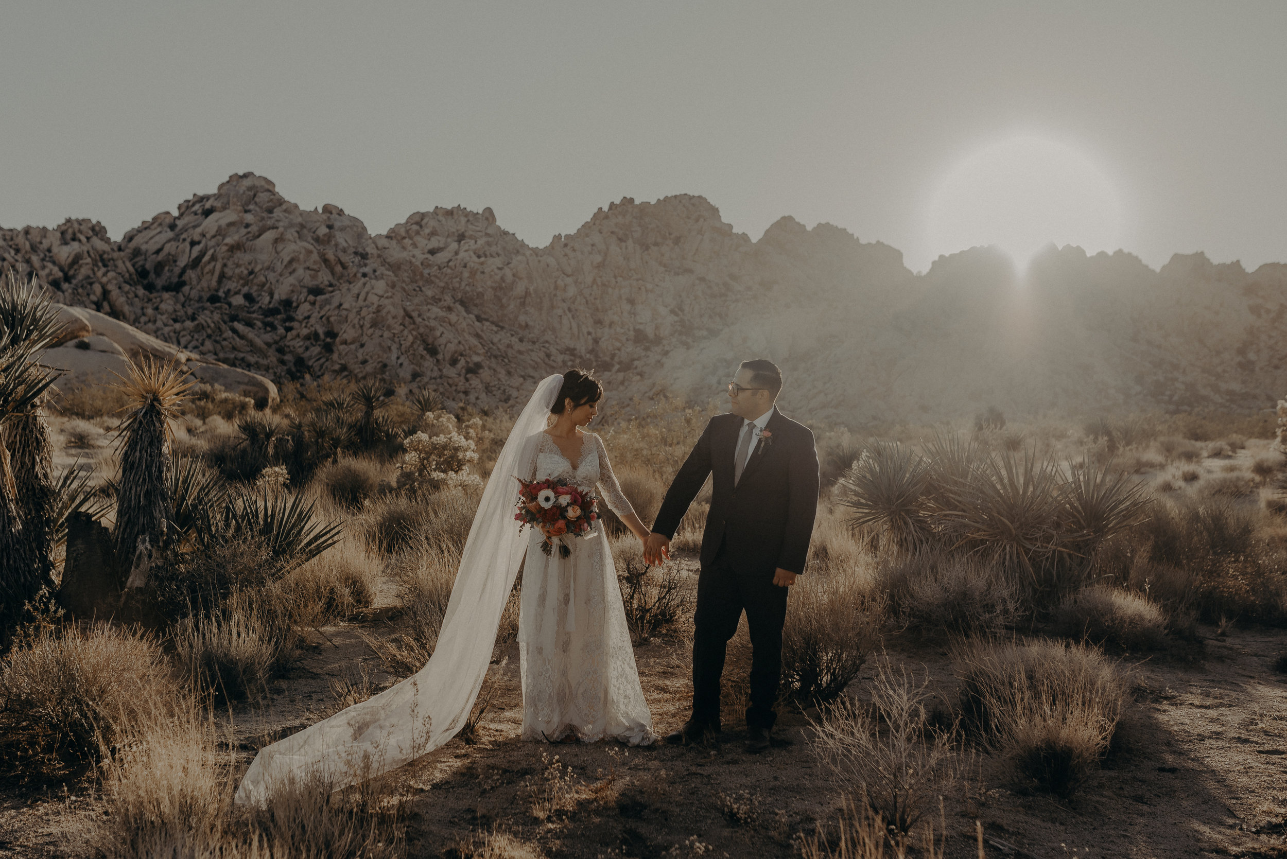 wedding photographer in Joshua tree, Indian cove elopement