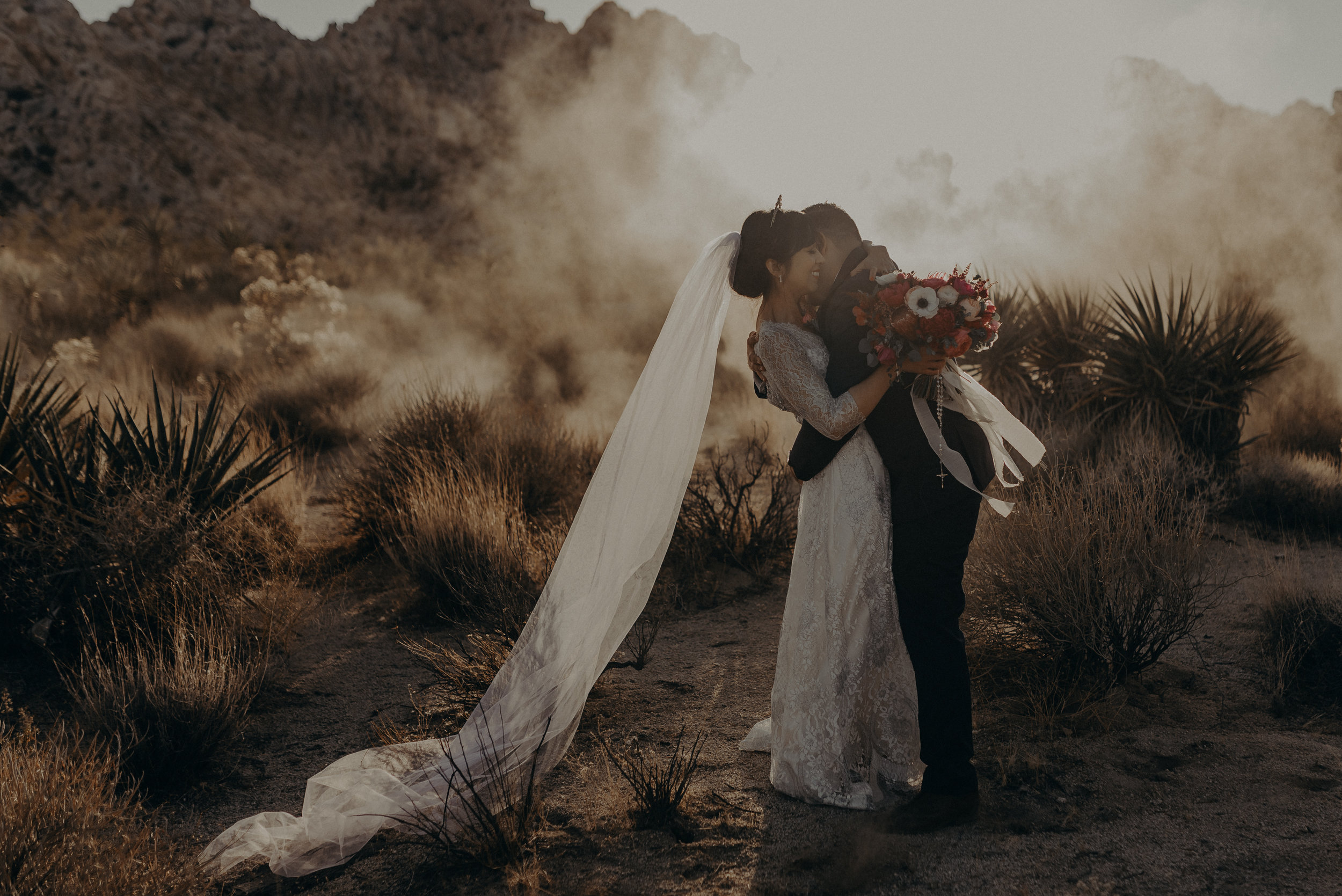 Joshua tree elopement photographer, Indian cove wedding