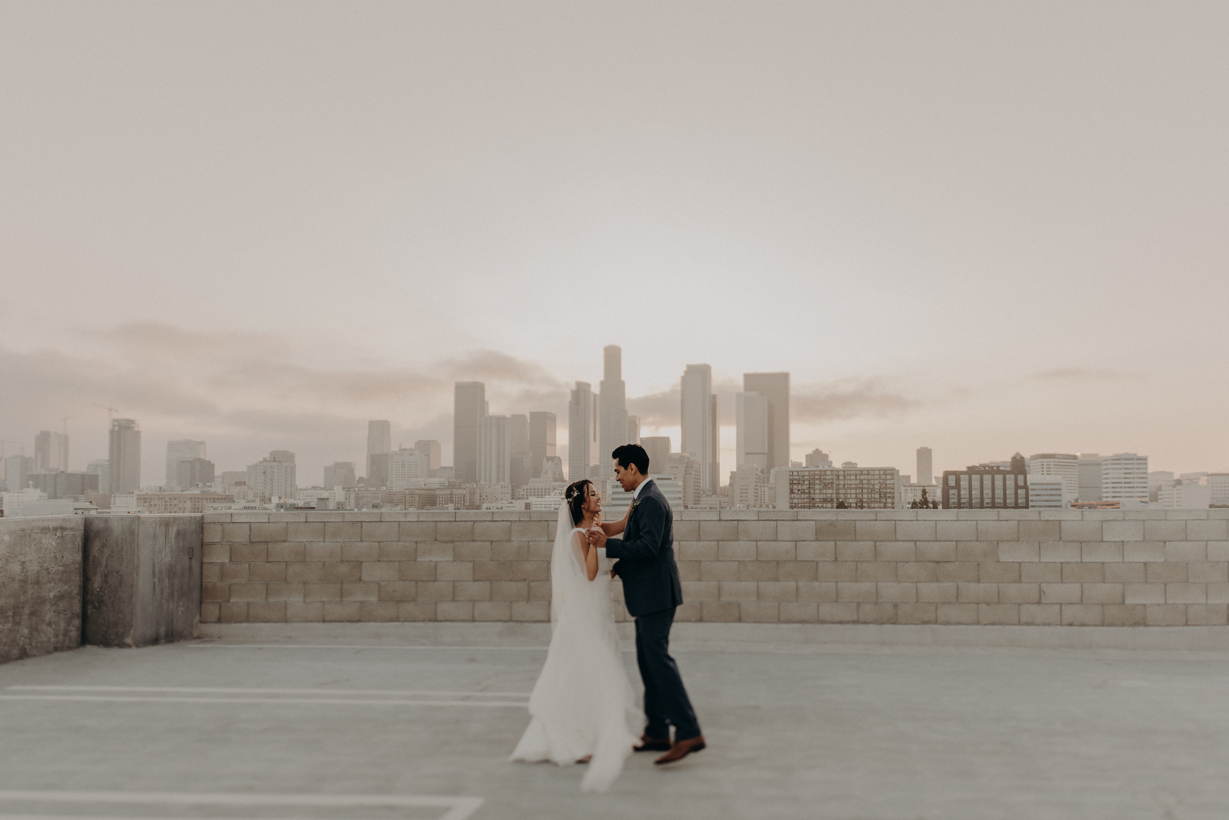 l.a. rooftop wedding landscape