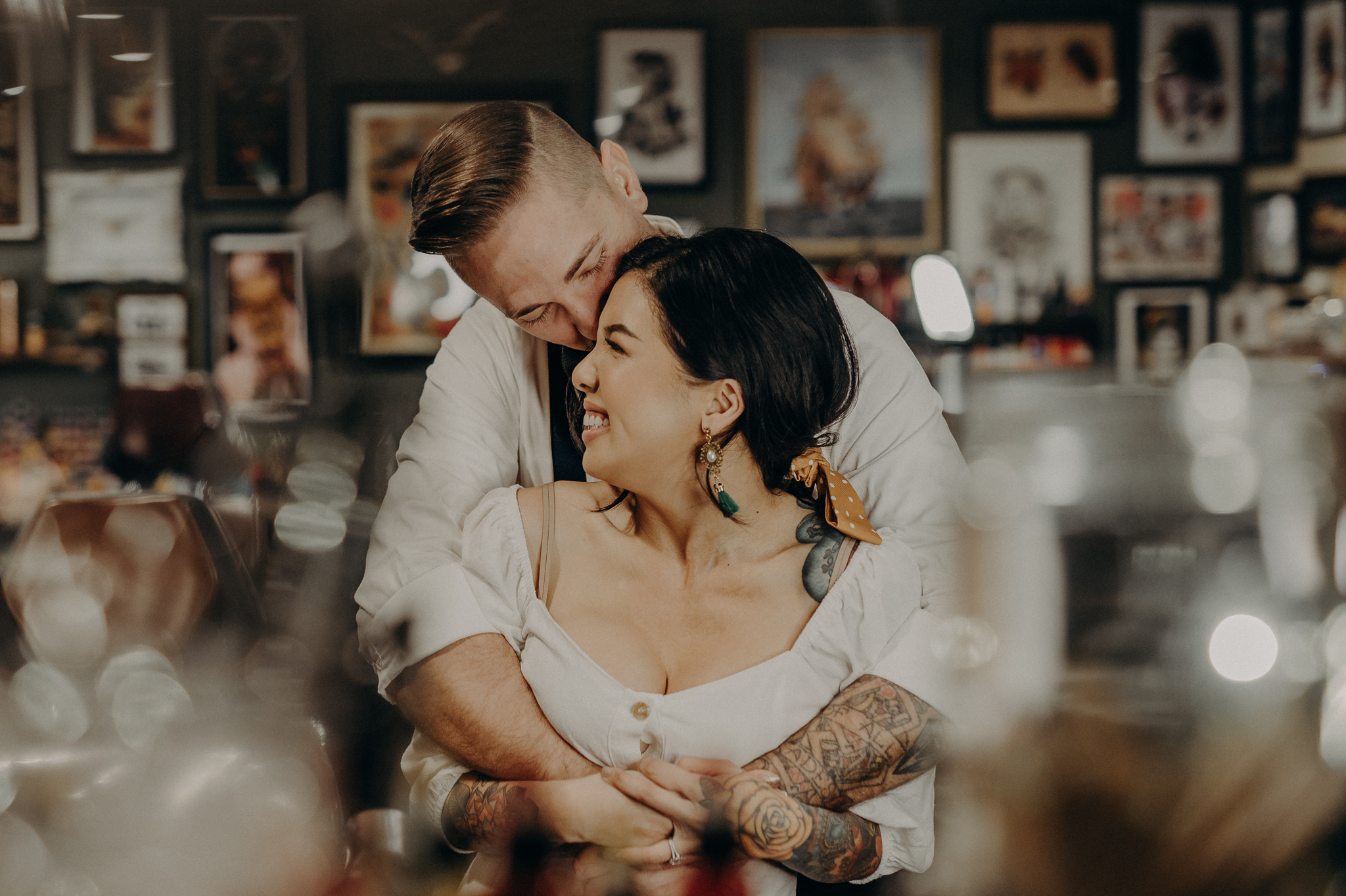 Wedding Photographer in LA - Los Angeles Wedding Photos - Tattoo Shop Engagement Session - IsaiahAndTaylor.com-002.jpg