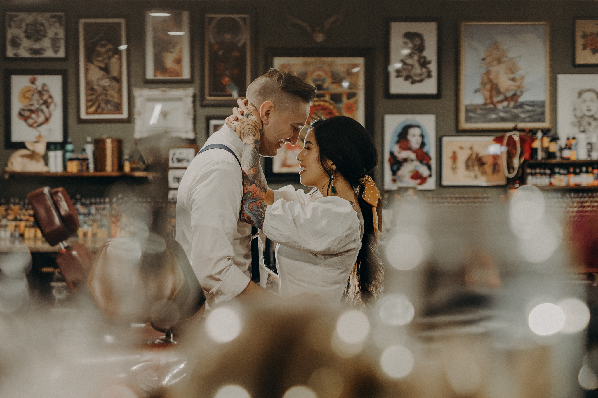 Wedding Photographer in LA - Los Angeles Wedding Photos - Tattoo Shop Engagement Session - IsaiahAndTaylor.com-004.jpg
