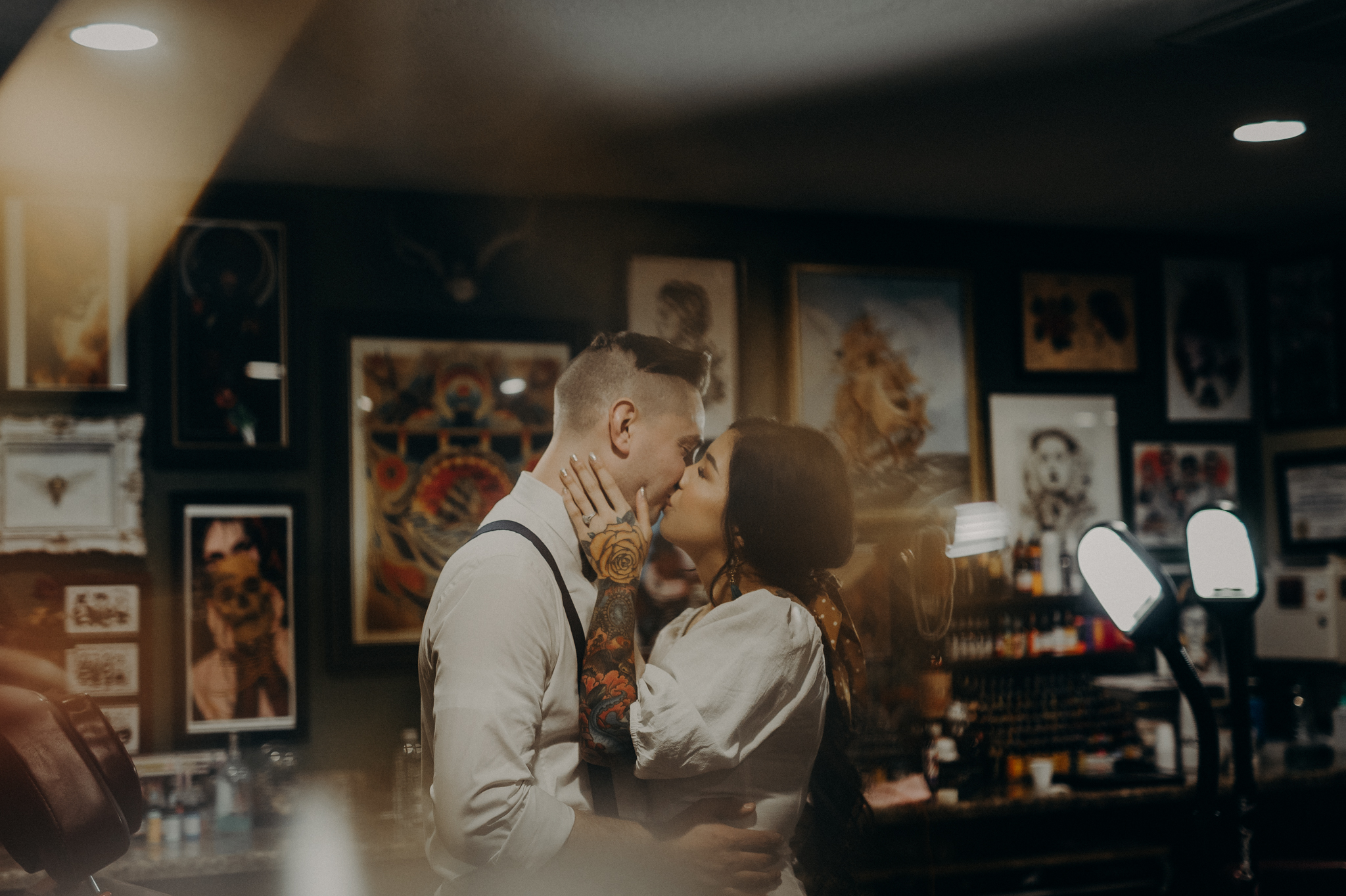 Wedding Photographer in LA - Los Angeles Wedding Photos - Tattoo Shop Engagement Session - IsaiahAndTaylor.com-010.jpg