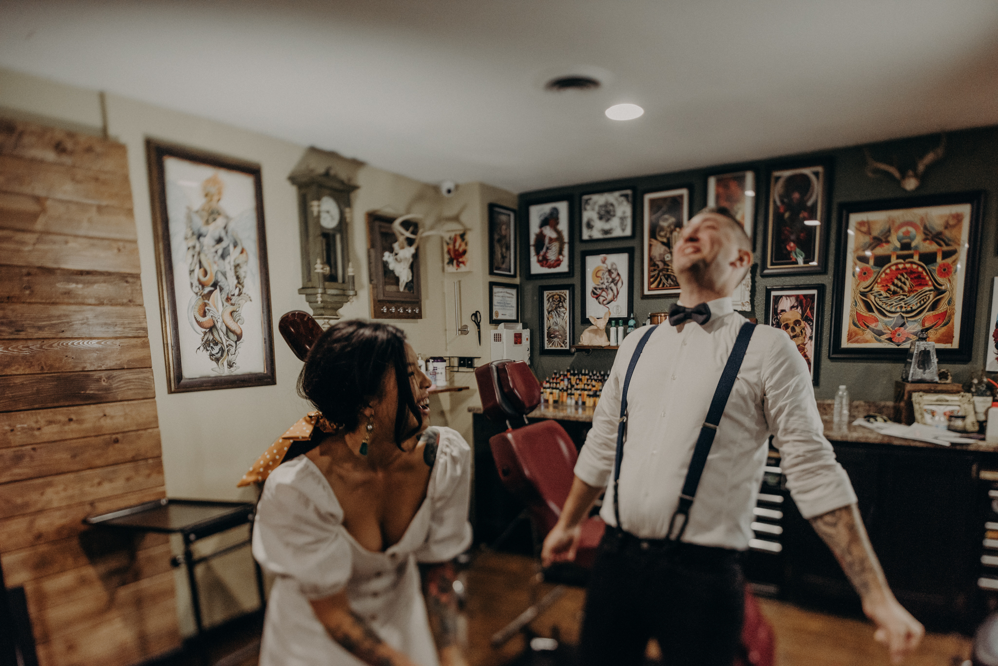 Wedding Photographer in LA - Los Angeles Wedding Photos - Tattoo Shop Engagement Session - IsaiahAndTaylor.com-012.jpg