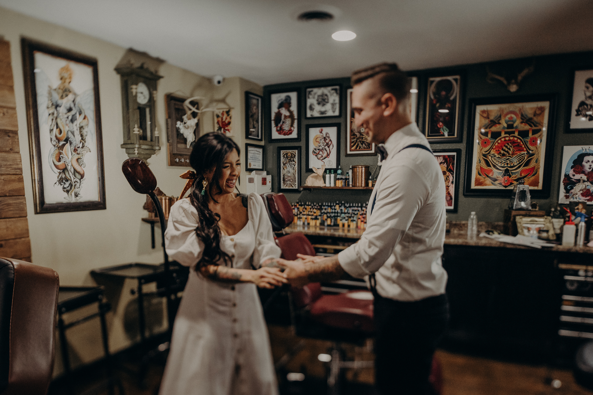 Wedding Photographer in LA - Los Angeles Wedding Photos - Tattoo Shop Engagement Session - IsaiahAndTaylor.com-013.jpg