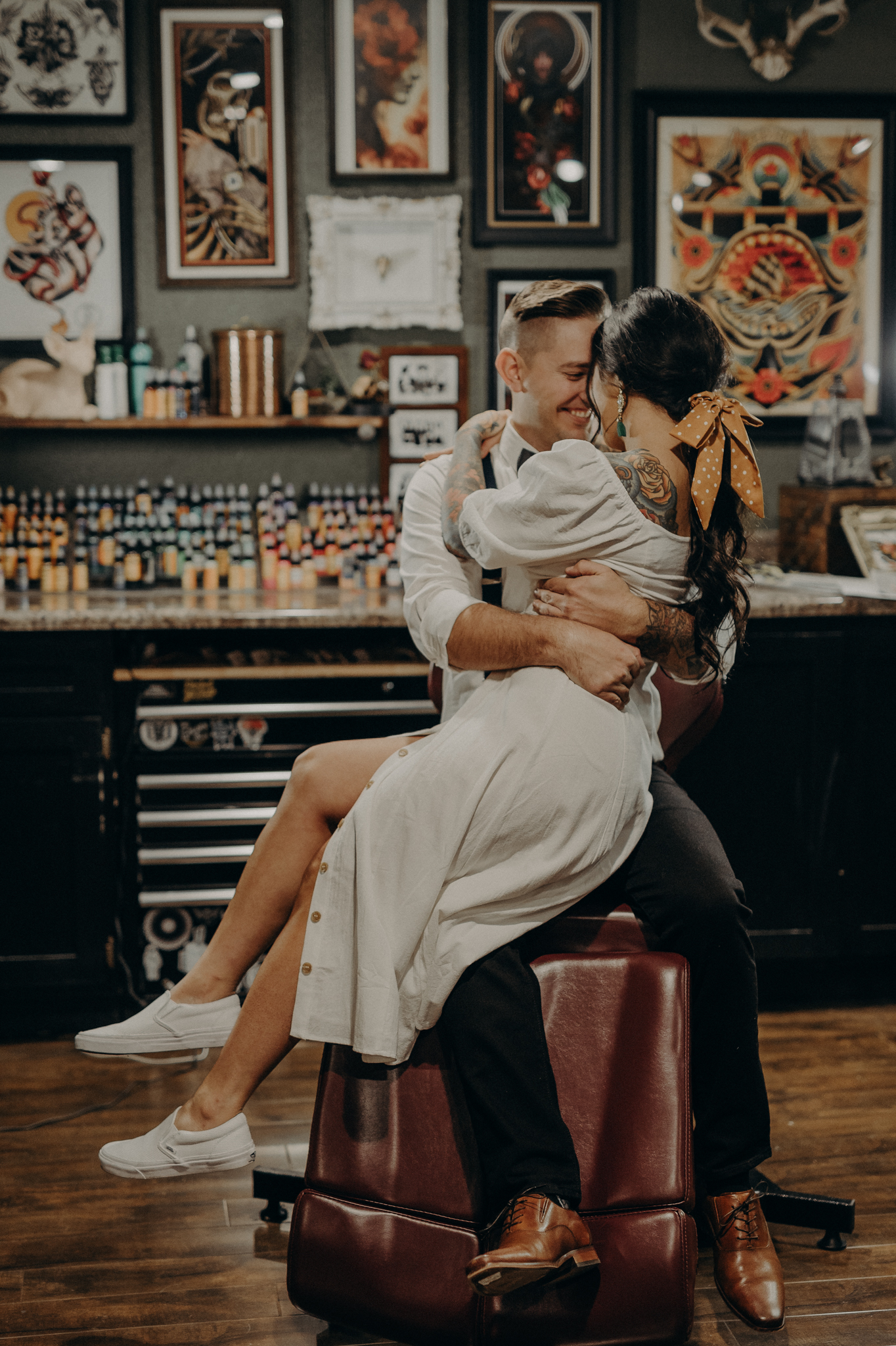 Wedding Photographer in LA - Los Angeles Wedding Photos - Tattoo Shop Engagement Session - IsaiahAndTaylor.com-015.jpg