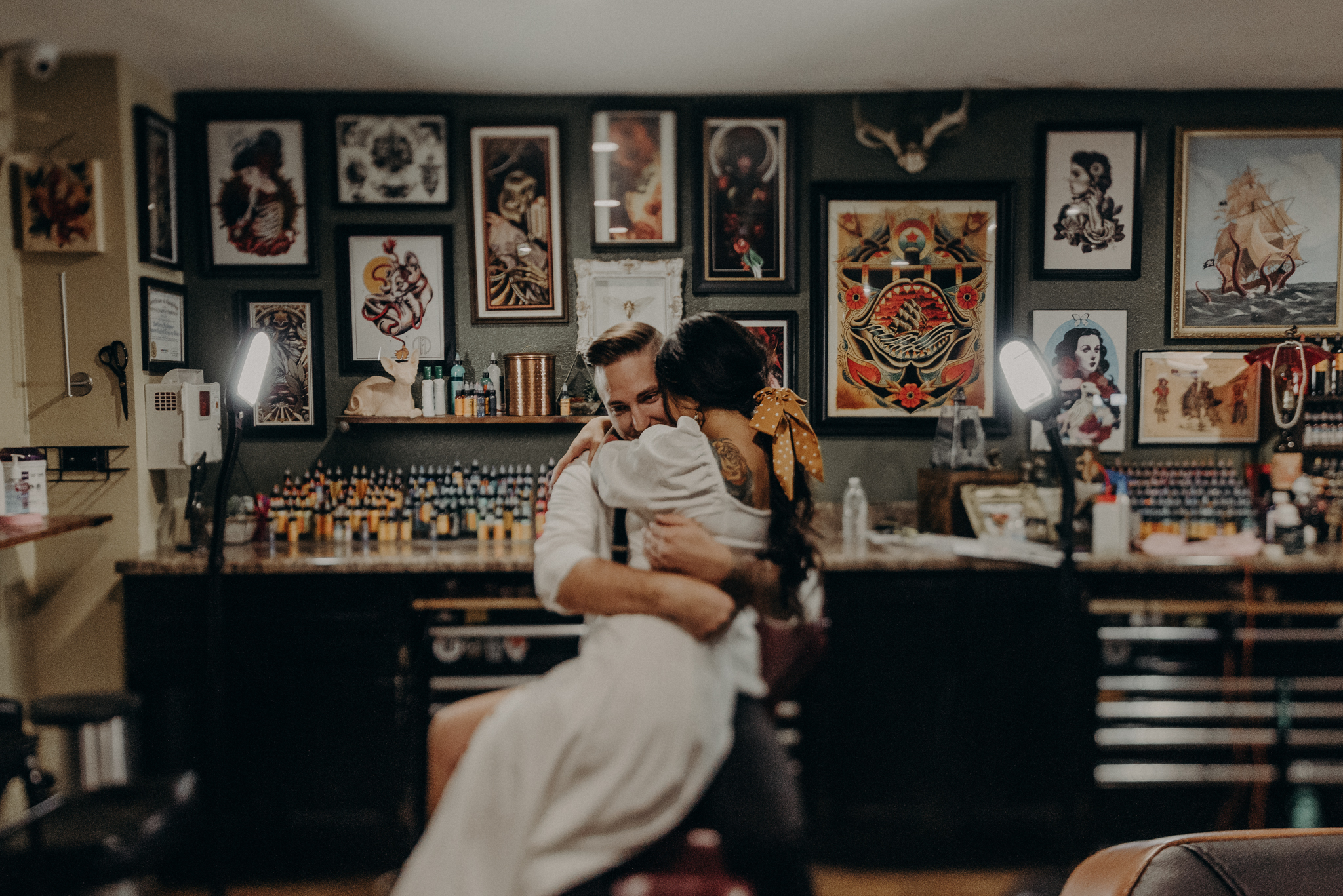 Wedding Photographer in LA - Los Angeles Wedding Photos - Tattoo Shop Engagement Session - IsaiahAndTaylor.com-017.jpg