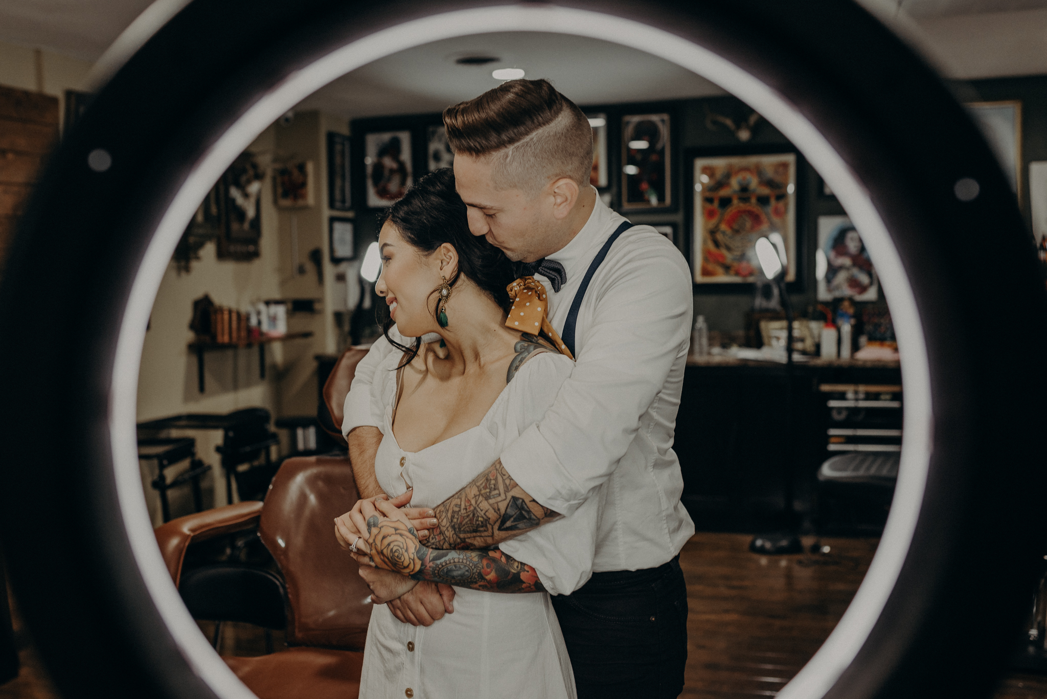 Wedding Photographer in LA - Los Angeles Wedding Photos - Tattoo Shop Engagement Session - IsaiahAndTaylor.com-019.jpg