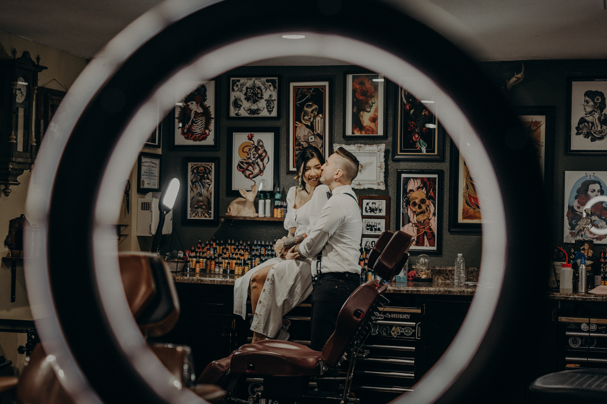 Wedding Photographer in LA - Los Angeles Wedding Photos - Tattoo Shop Engagement Session - IsaiahAndTaylor.com-020.jpg