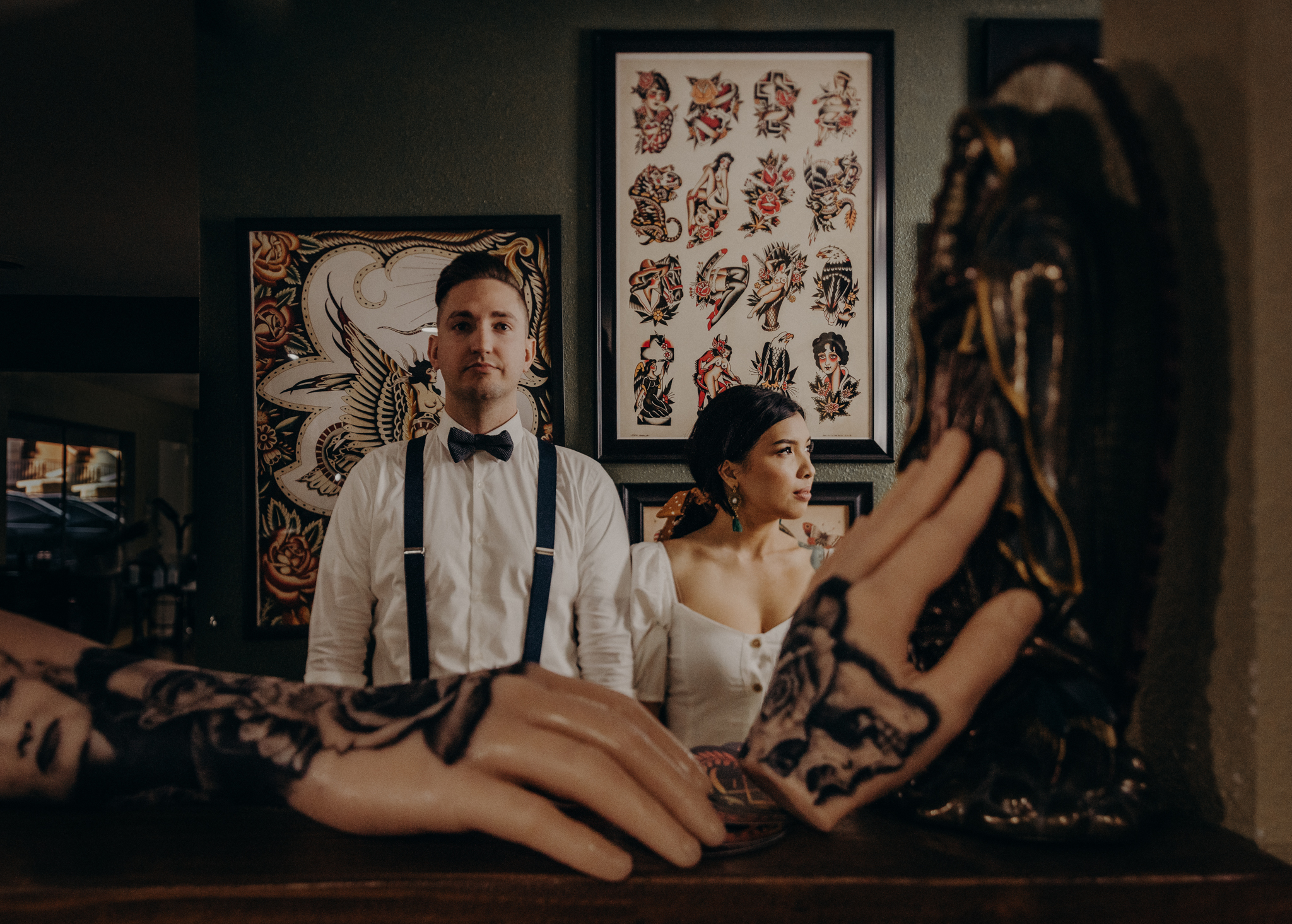 Wedding Photographer in LA - Los Angeles Wedding Photos - Tattoo Shop Engagement Session - IsaiahAndTaylor.com-024.jpg