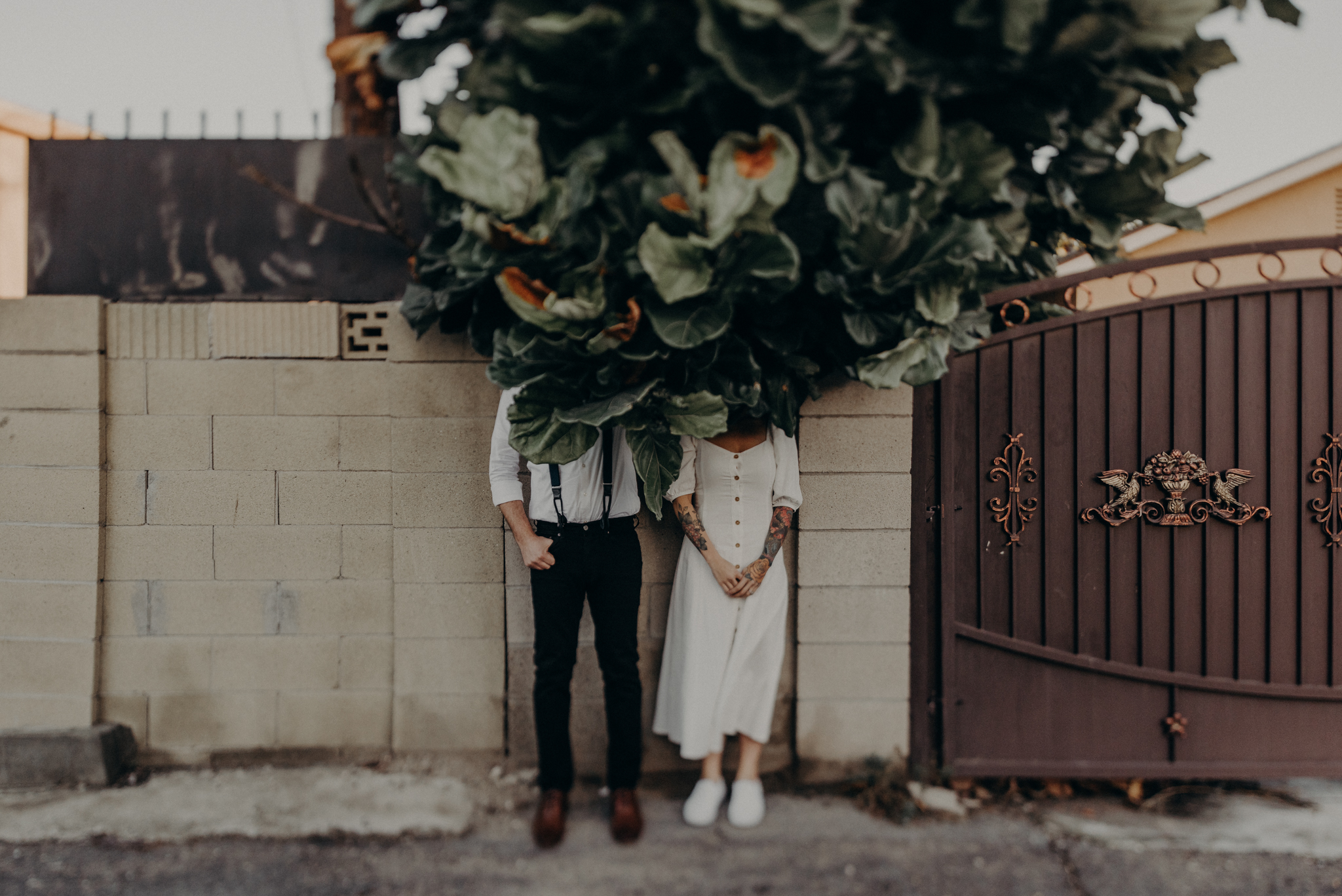 Wedding Photographer in LA - Los Angeles Wedding Photos - Tattoo Shop Engagement Session - IsaiahAndTaylor.com-035.jpg
