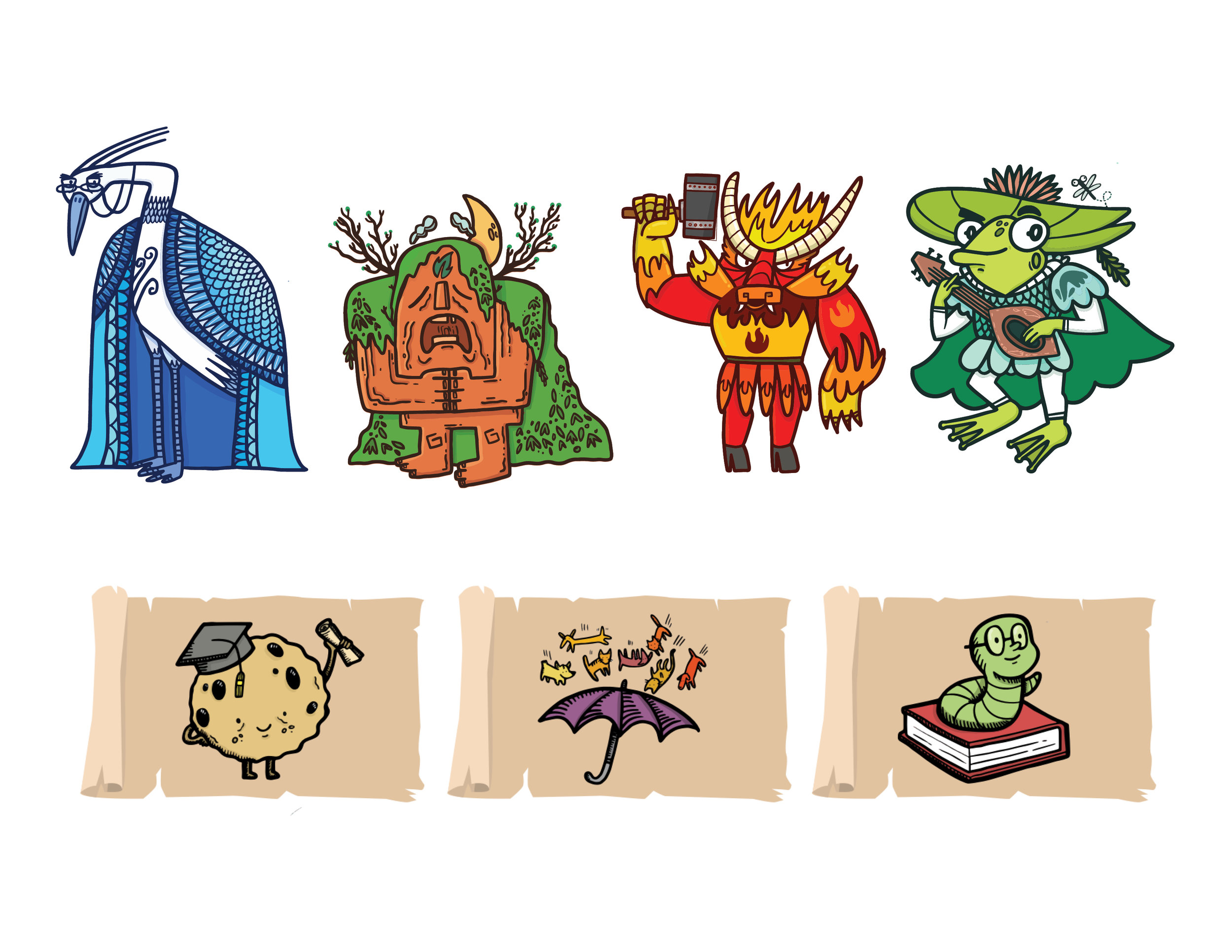 Idiomatica Characters & Idiom Cards
