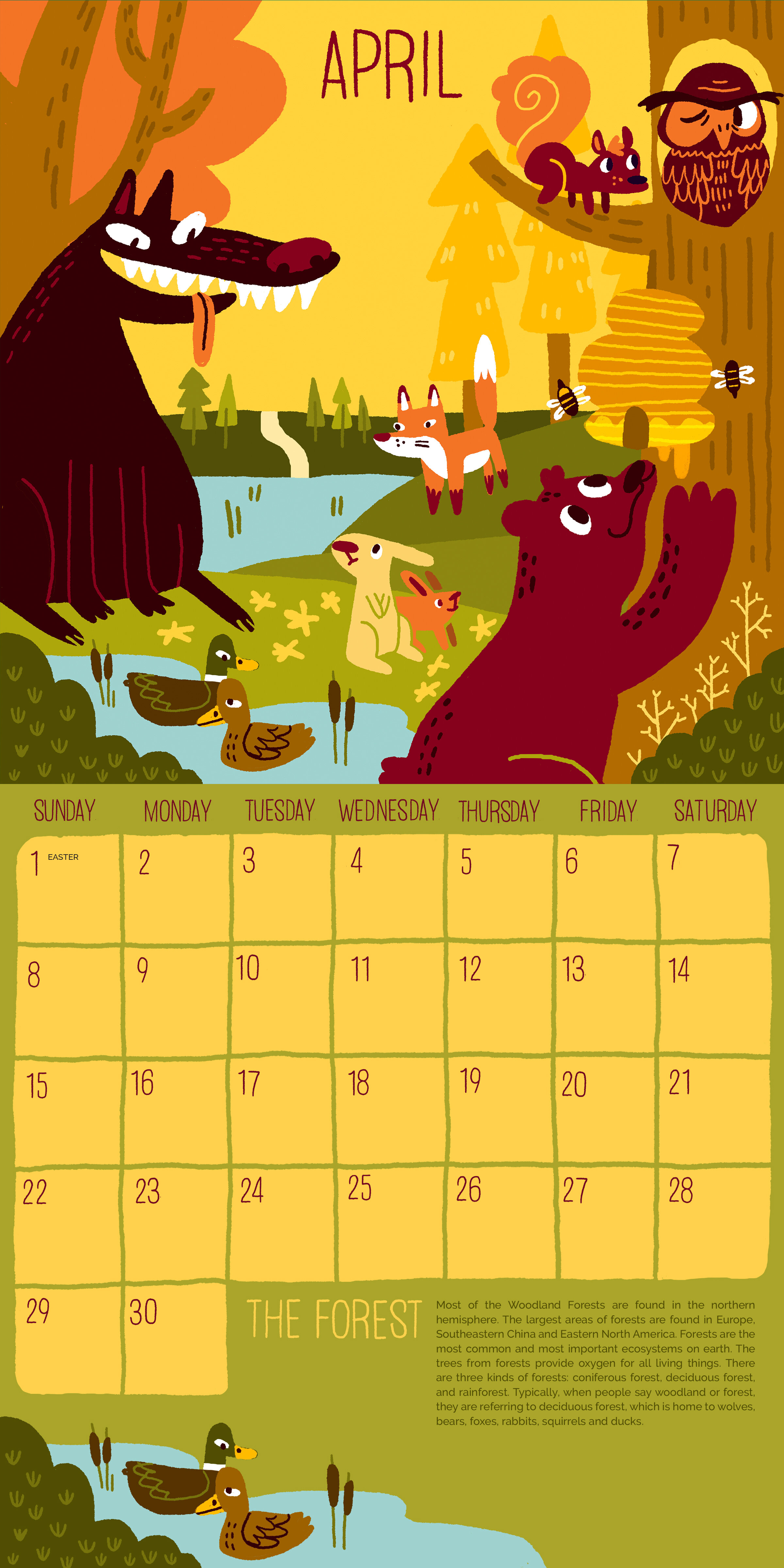 Call of the Wild Calendar: April (Forest)