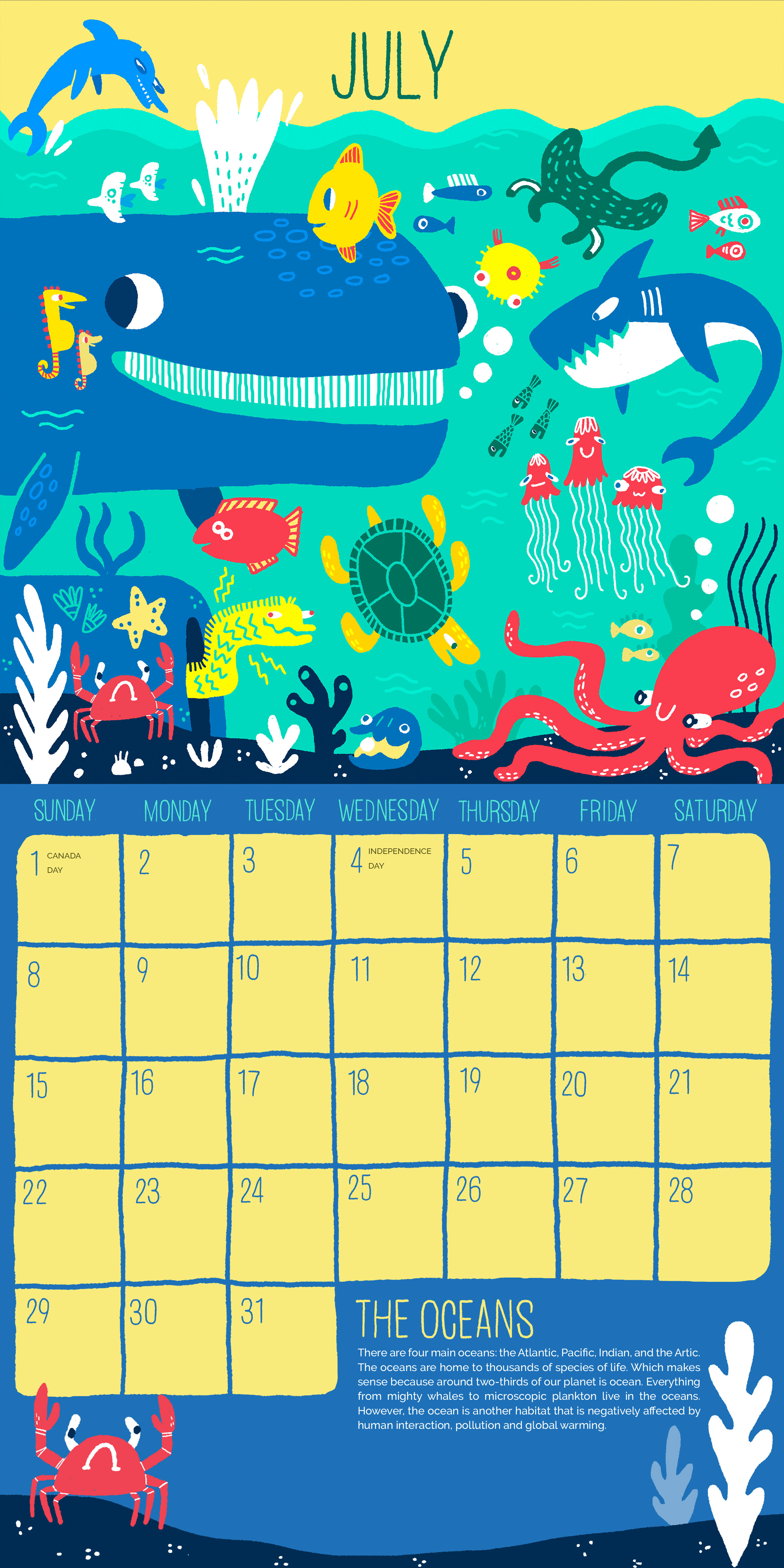 Call of the Wild Calendar: July (Oceans)