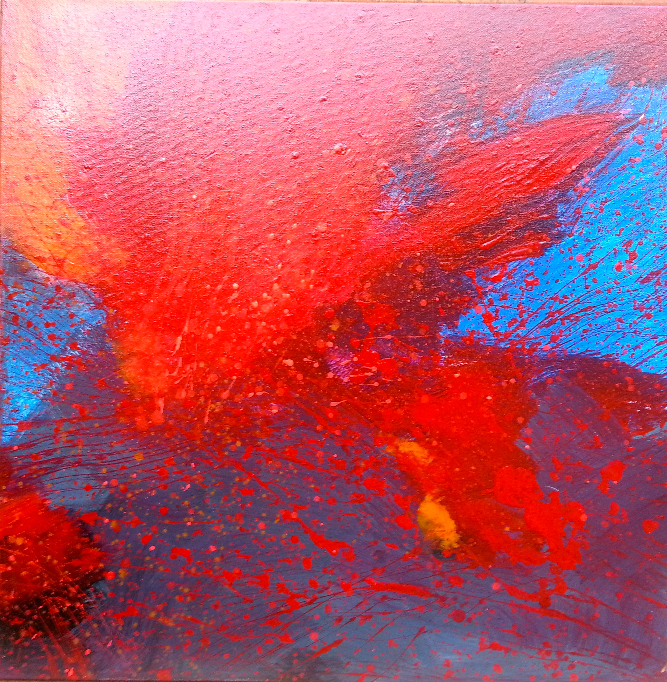 Combustion 1, 2014  24 x 24 inches