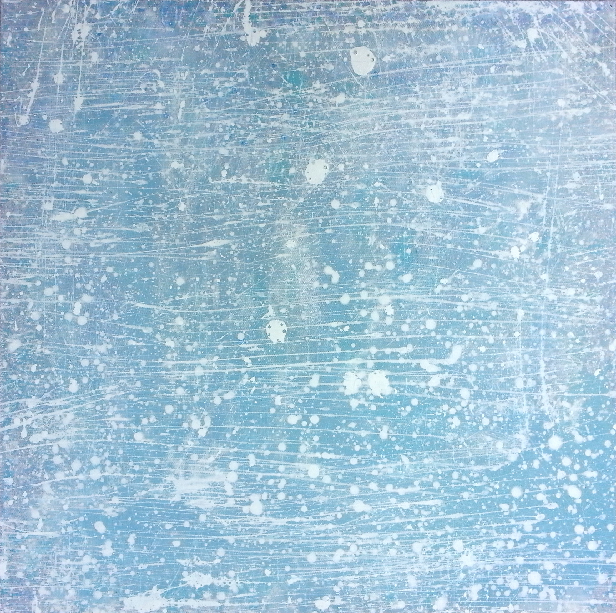 Sky Closeup 6,2014 One of a series of nine canvases 24 x 24 inches