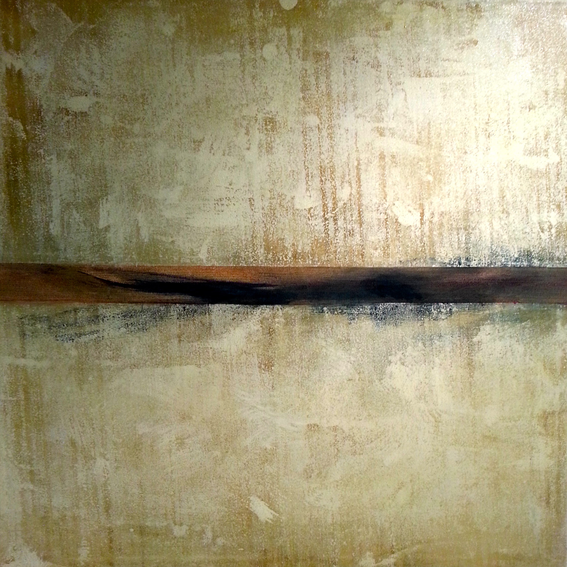 The Path of Memory, 2014 Canvas 1 - One of a series of six 48 x 48 inches