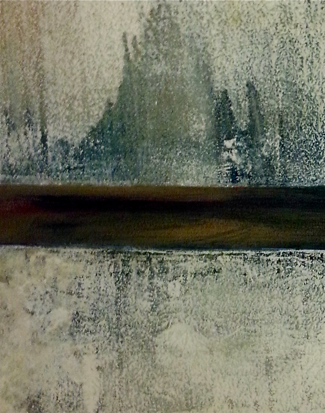 The Path of Memory, 2014 Canvas 2, detail  48 x 36 inches