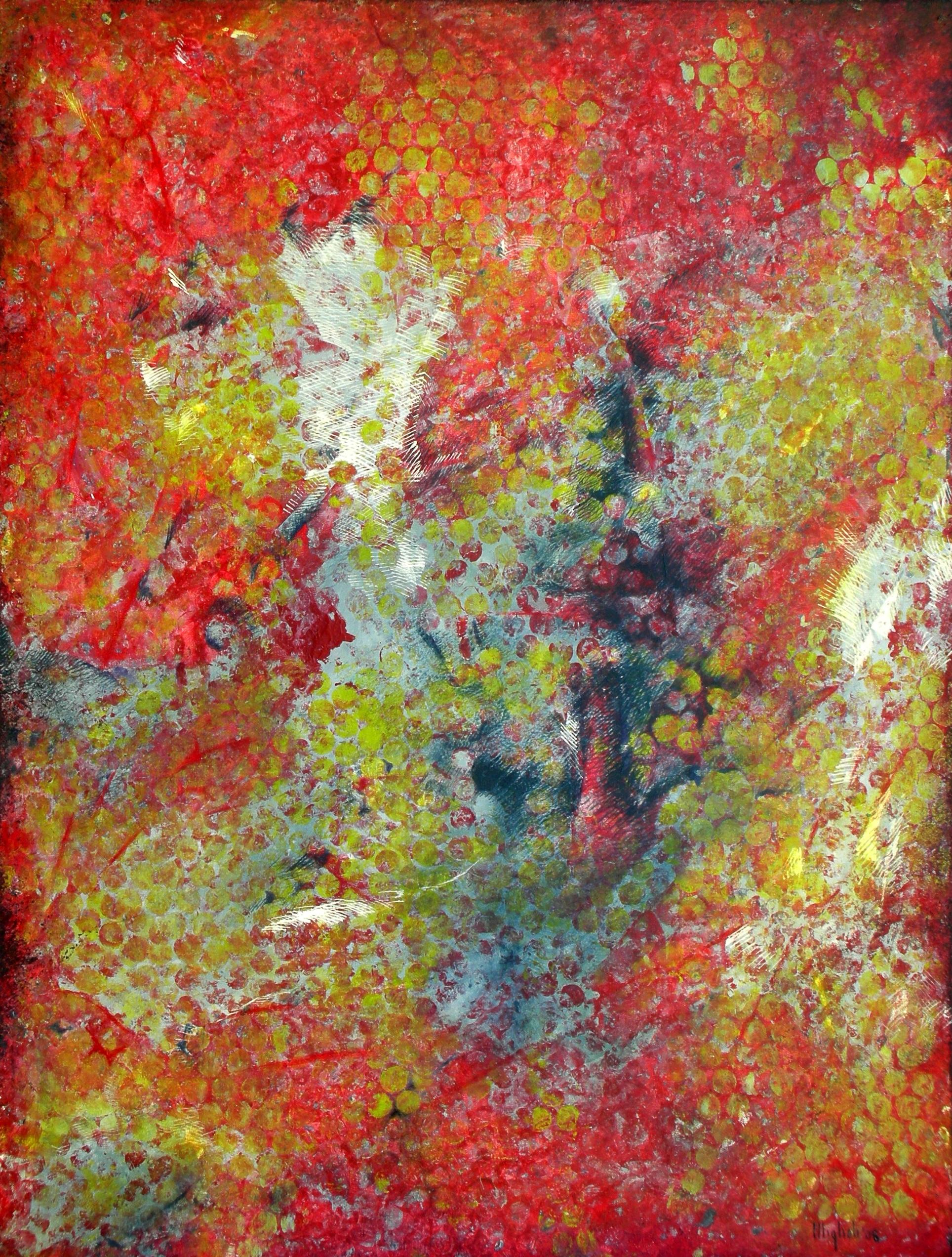 Red Quantum, 2008  48 x 36 inches