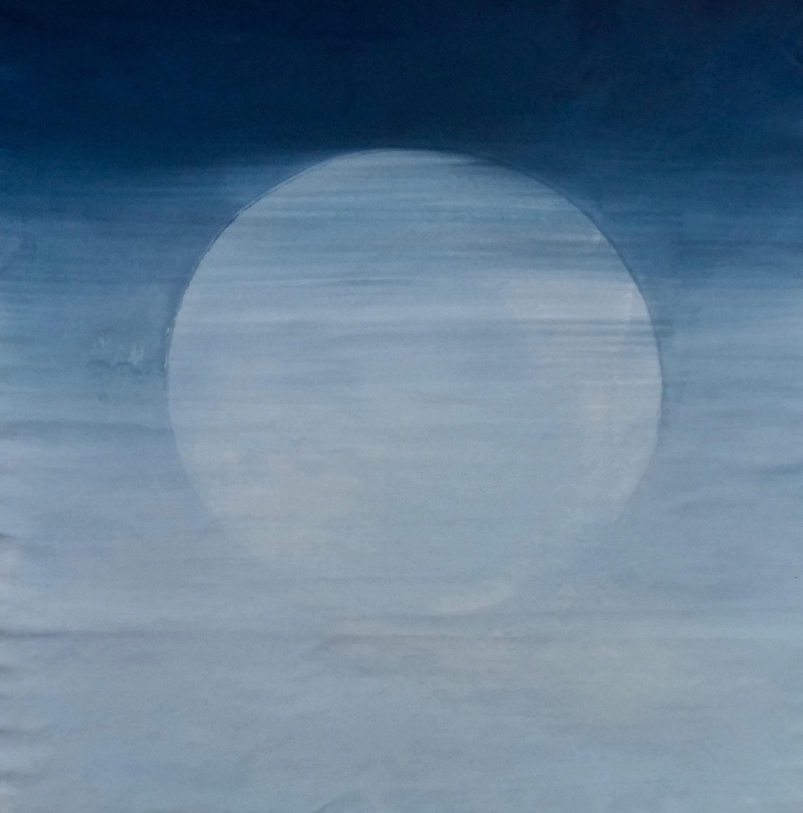 Lunar View, 2018  65 x 61 inches  Acrylic on unstretched canvas