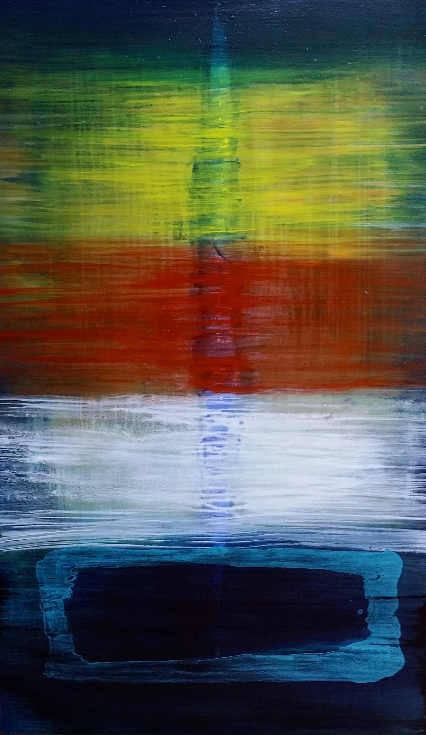 Strata, 2018  60 x 36 inches  Acrylic on canvas