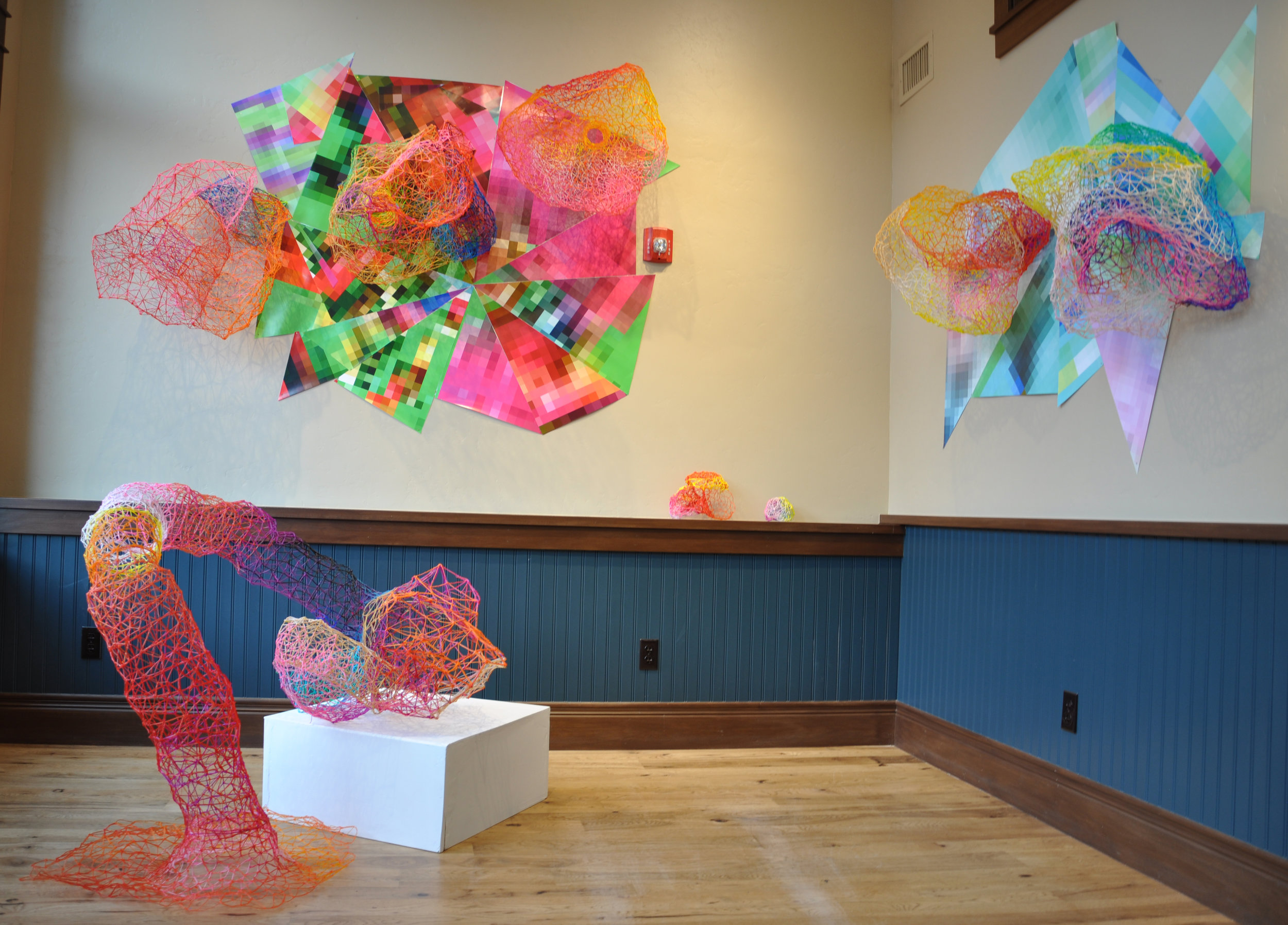 Exhibition view 'Forma Futura' at The Old Masonic Hall, Breckenridge, Winter 2016 with Jennifer Ghormley