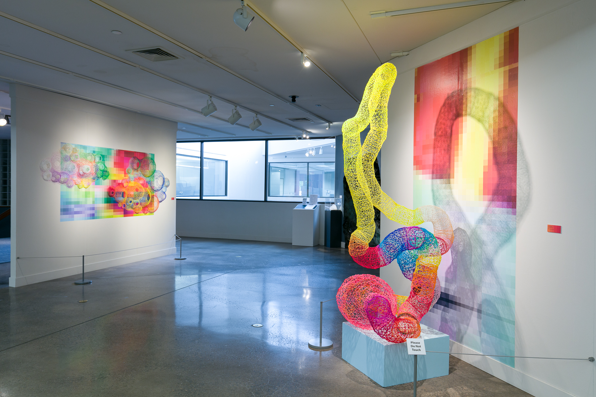 Installation view 'Connected by Color' Arvarda Center for the Arts and Humanities, Colorado 2018 (Photo Wes Magyar)