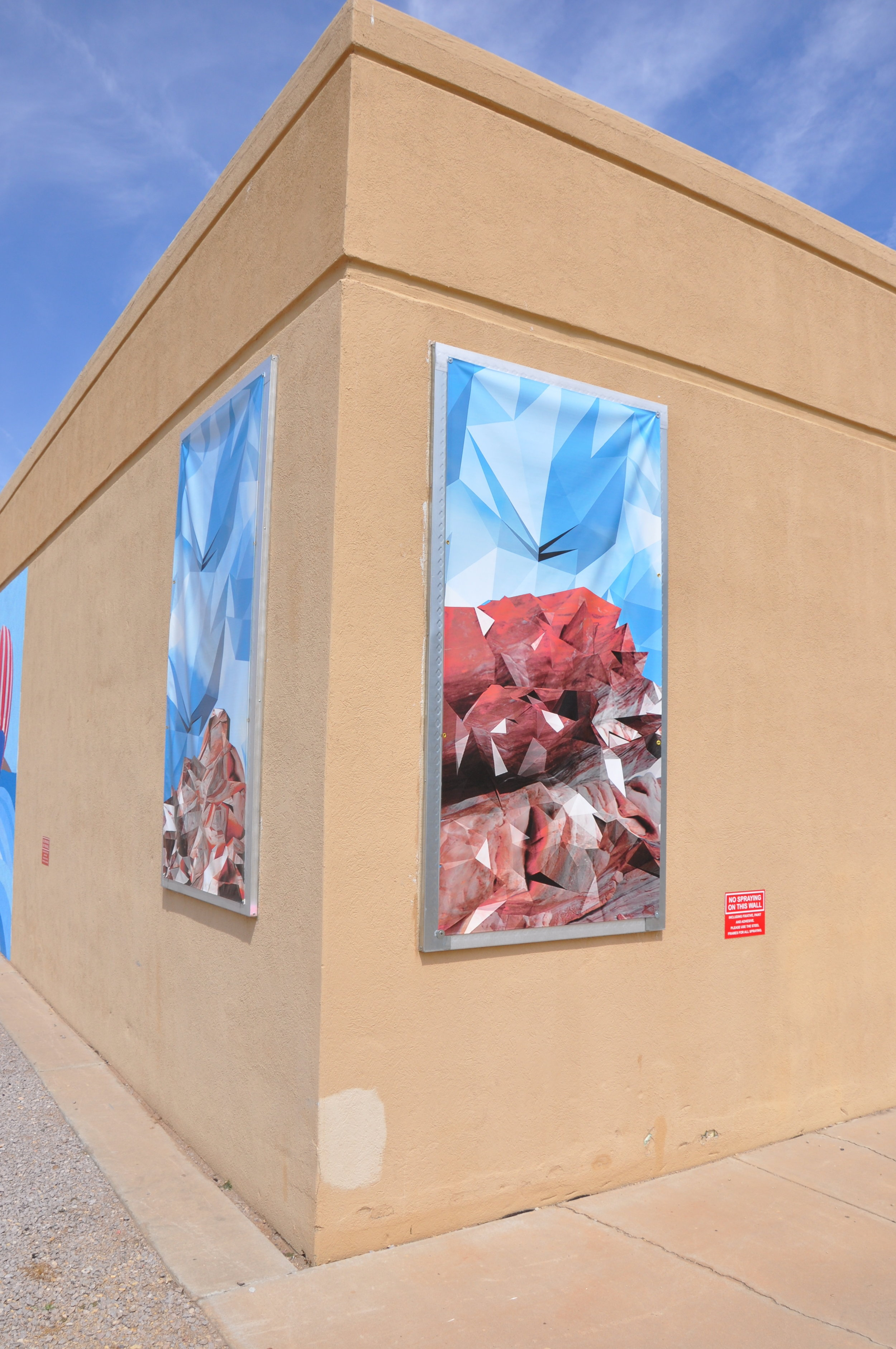 'Blue Sky Catastrophe' 2015, banner project, as part of   RE: Visioning the West   , Banner Project , UAG New Mexico State University, Las Cruces, NM