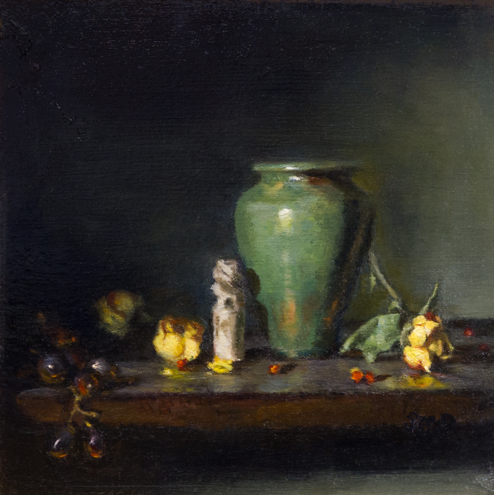 """Chinese chop: oil on board 10"""" x 10"""""""