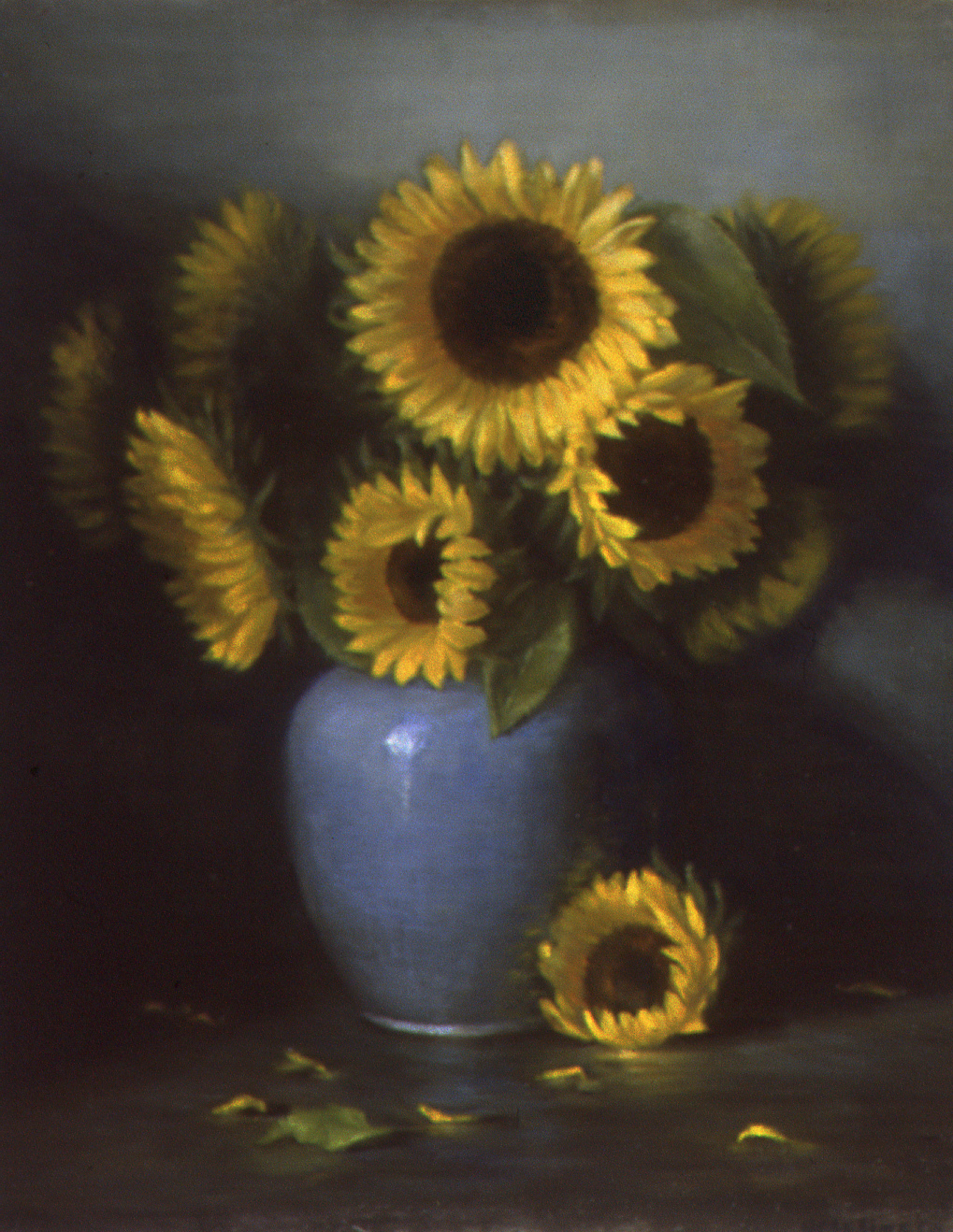 """Happy sunflowers: Oil on canvas 20"""" x 24"""""""