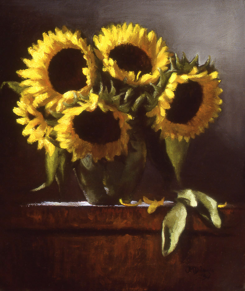 """yellow flitting transparent: oil on linen 12"""" x 15"""" (sold)"""