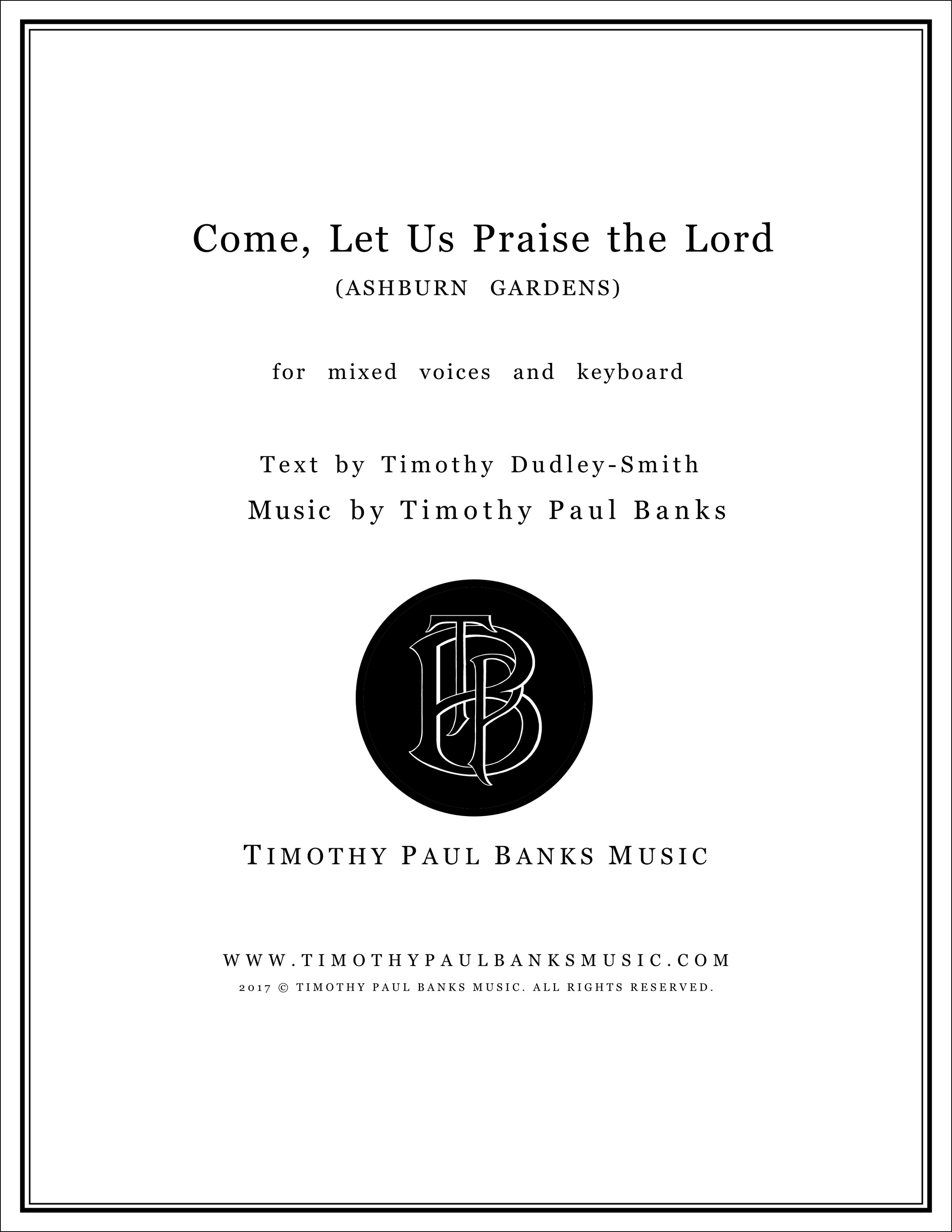 Come, Let Us Praise the Lord