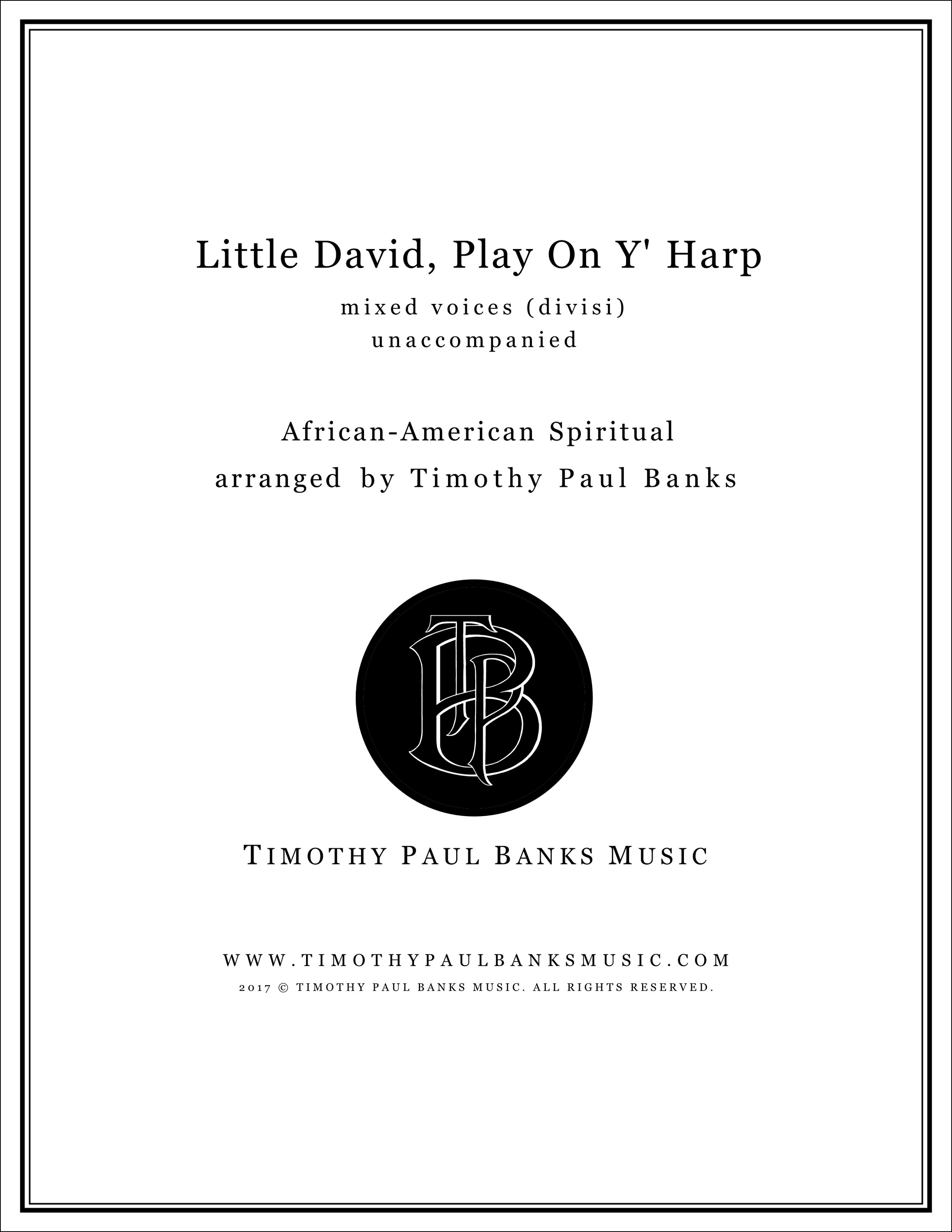Little David, Play On Y' Harp