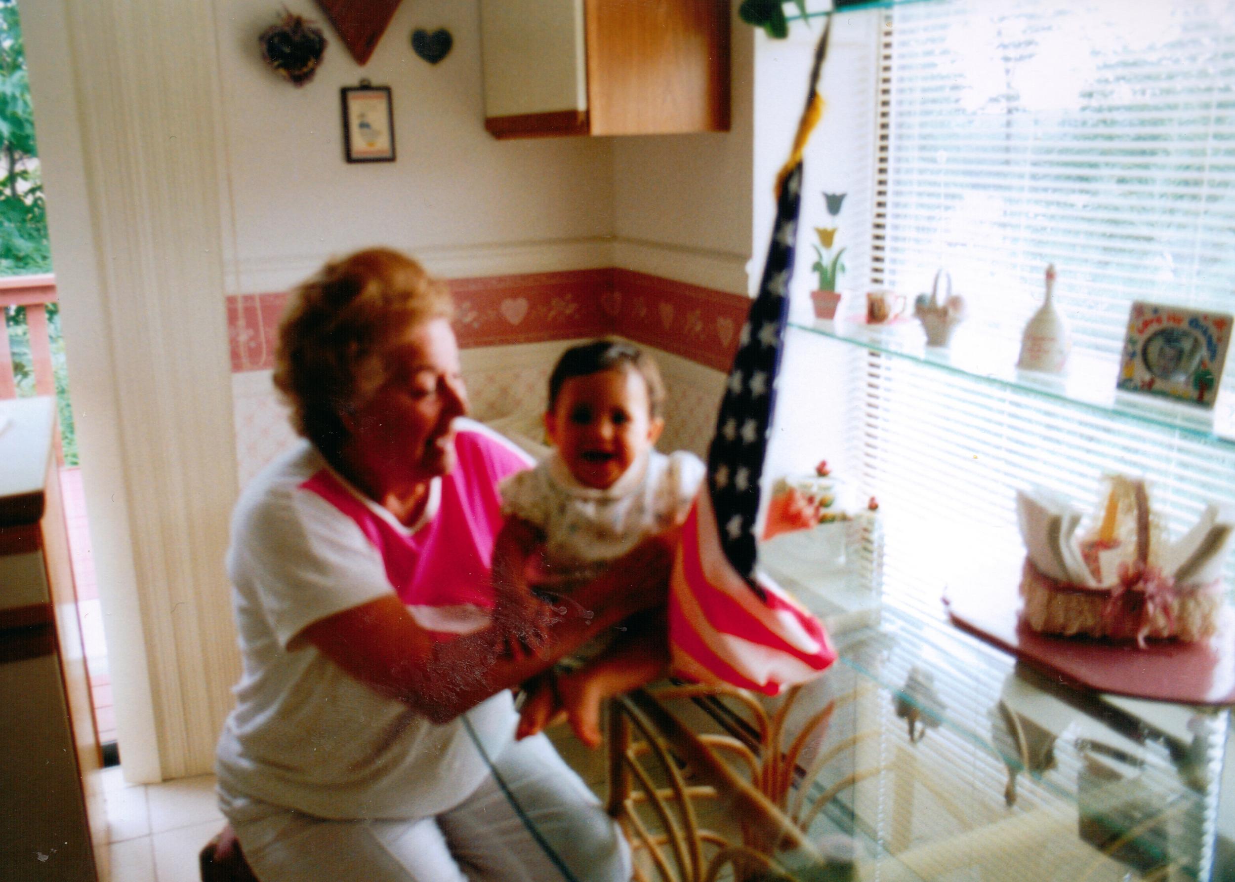 My Nana teaching me how to dance on tables.