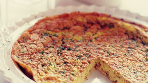 Frittata with Pancetta and Mint