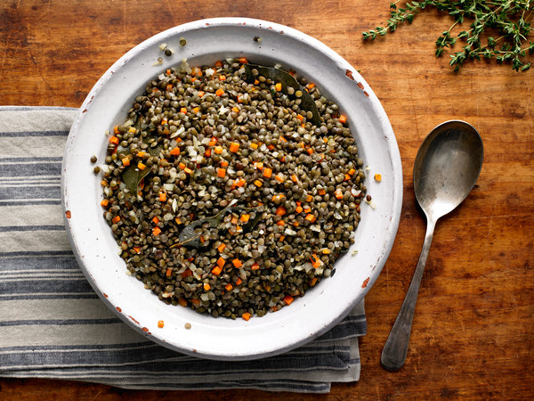 French Lentils with Garlic, Thyme