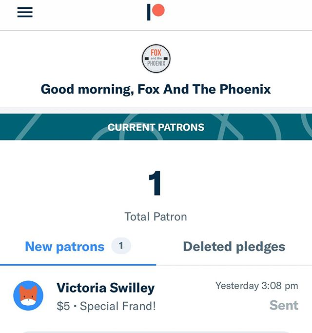 We have our first ever Patreon Patron!!! Thank you to @torichii  for being a longtime friend and advocate. It means the world to us that she and her family are wanting to hear more of our music. From the bottom of our hearts! Thank you. ⠀ •⠀ •⠀ •⠀ #patreonpatron #patronofthearts #artistshelpingartists #supportthearts