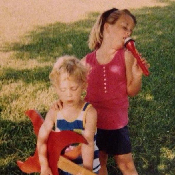 It all started at a very young age....tag a sibling or friend who is your forever bandmate! 🎤 🎸 🎹