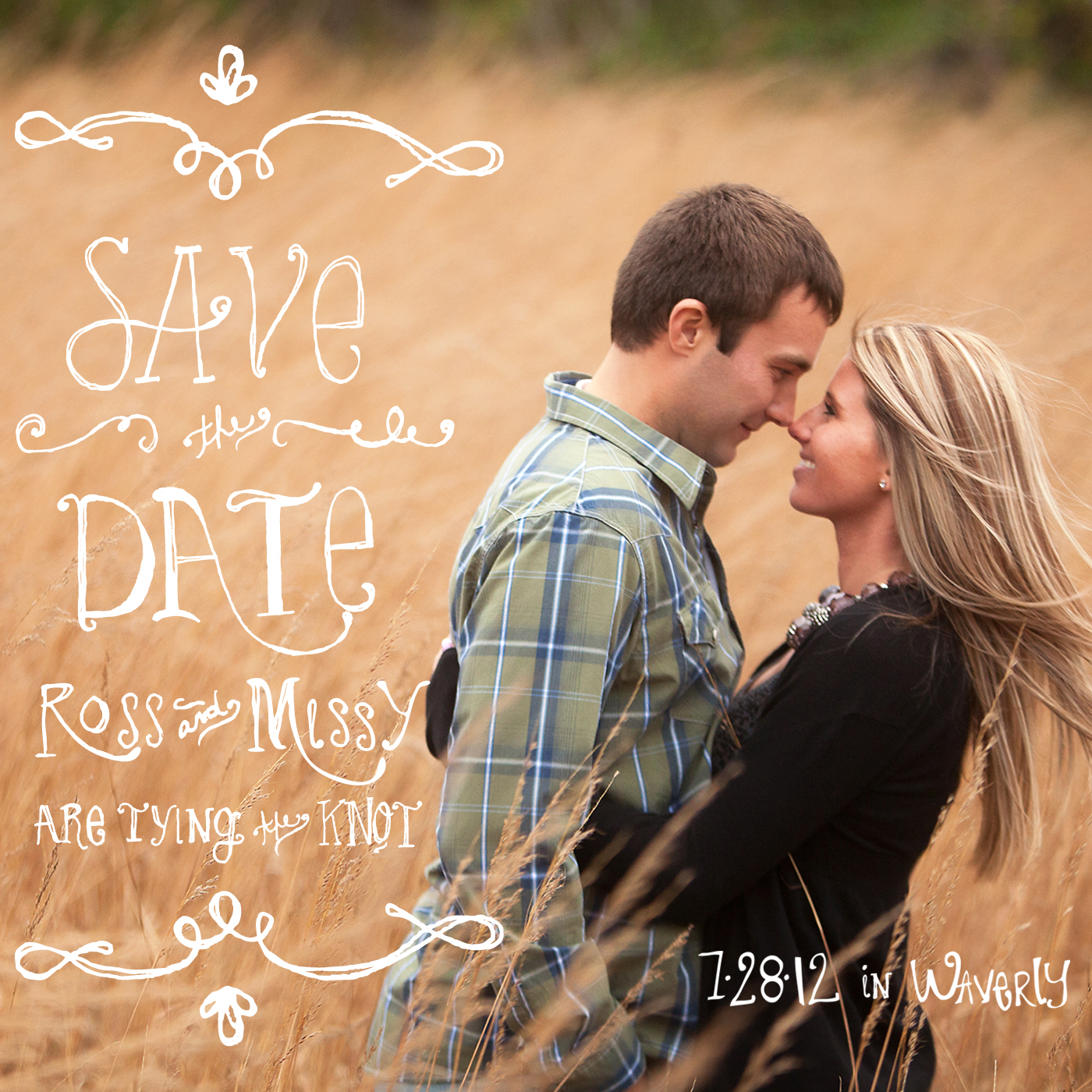 Ross + Missy Save the Date Magnet