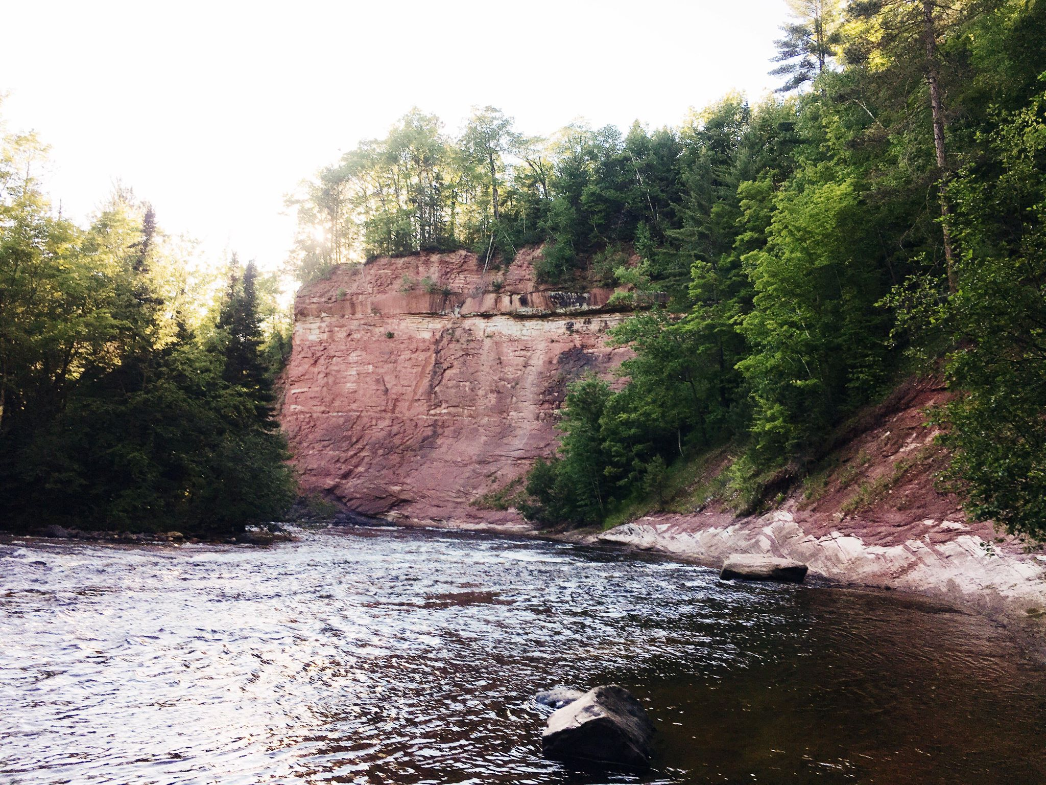 Fishing in the Sturgeon River gorge.