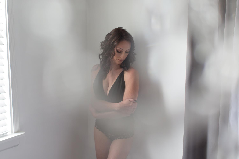 Woman's black bodysuit
